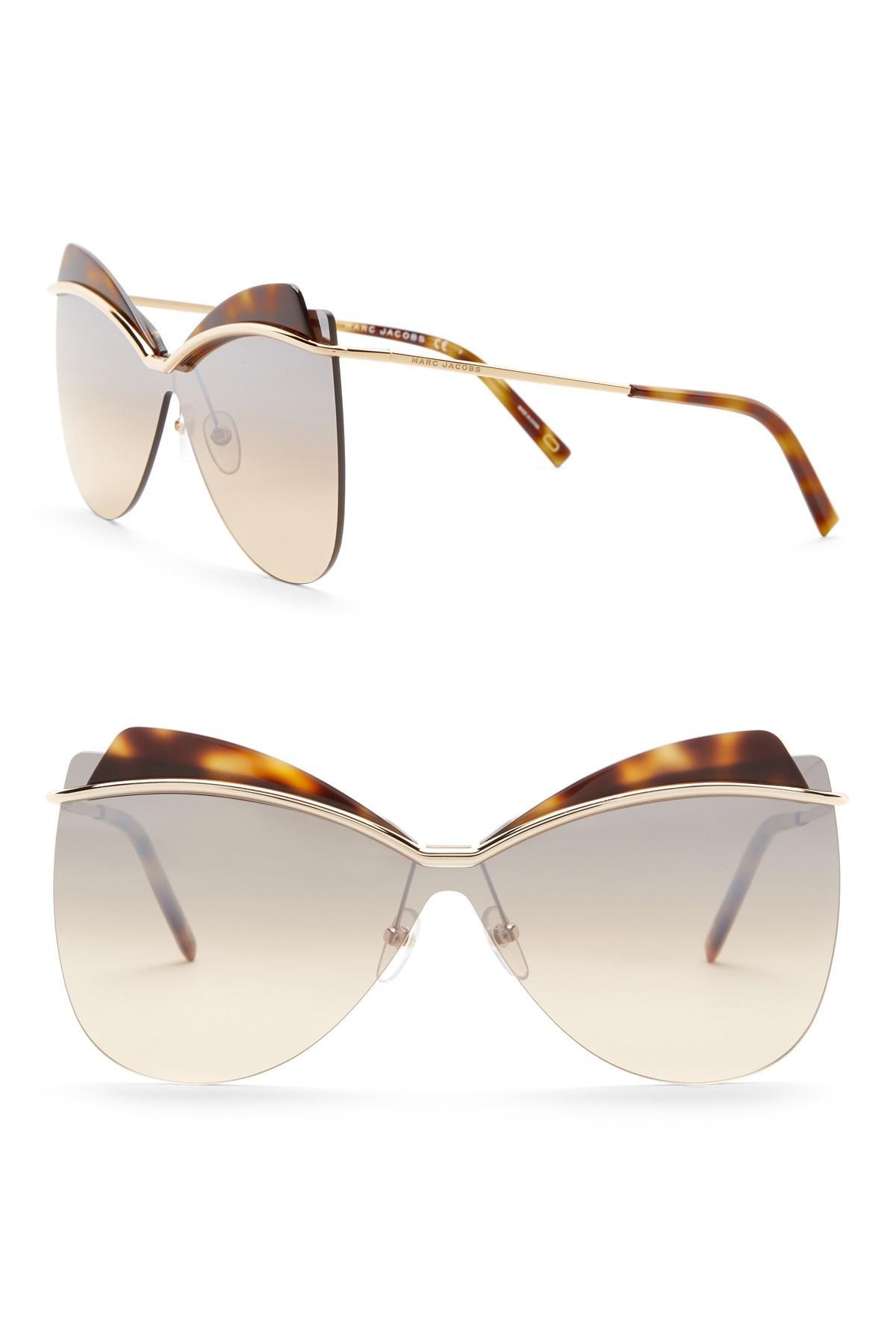 ea92eeea4b Marc Jacobs 73mm Cat Eye Sunglasses - Lyst