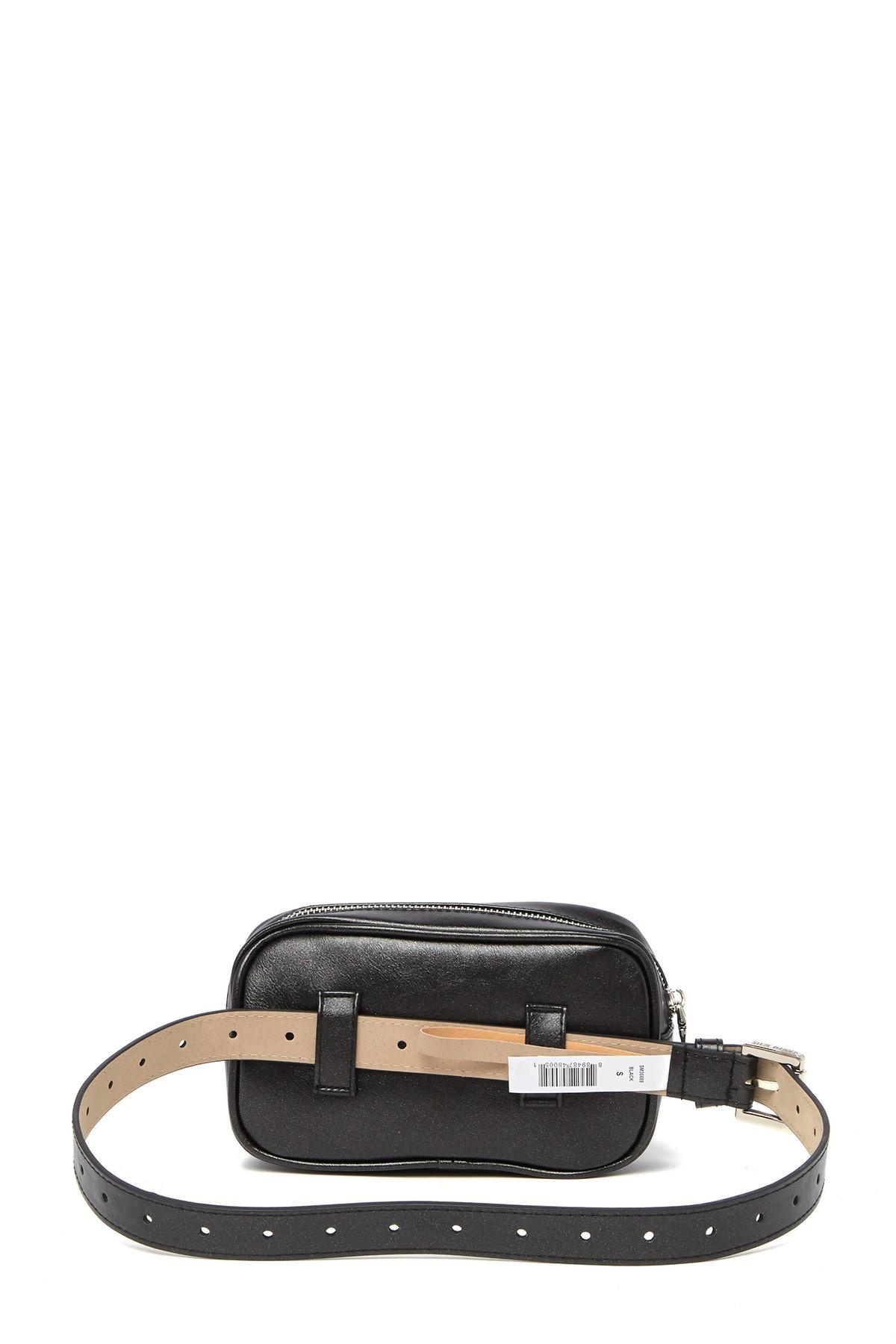 01dc62b8e94 Steve Madden - Black Square Studded Fringe Belt Bag - Lyst. View fullscreen