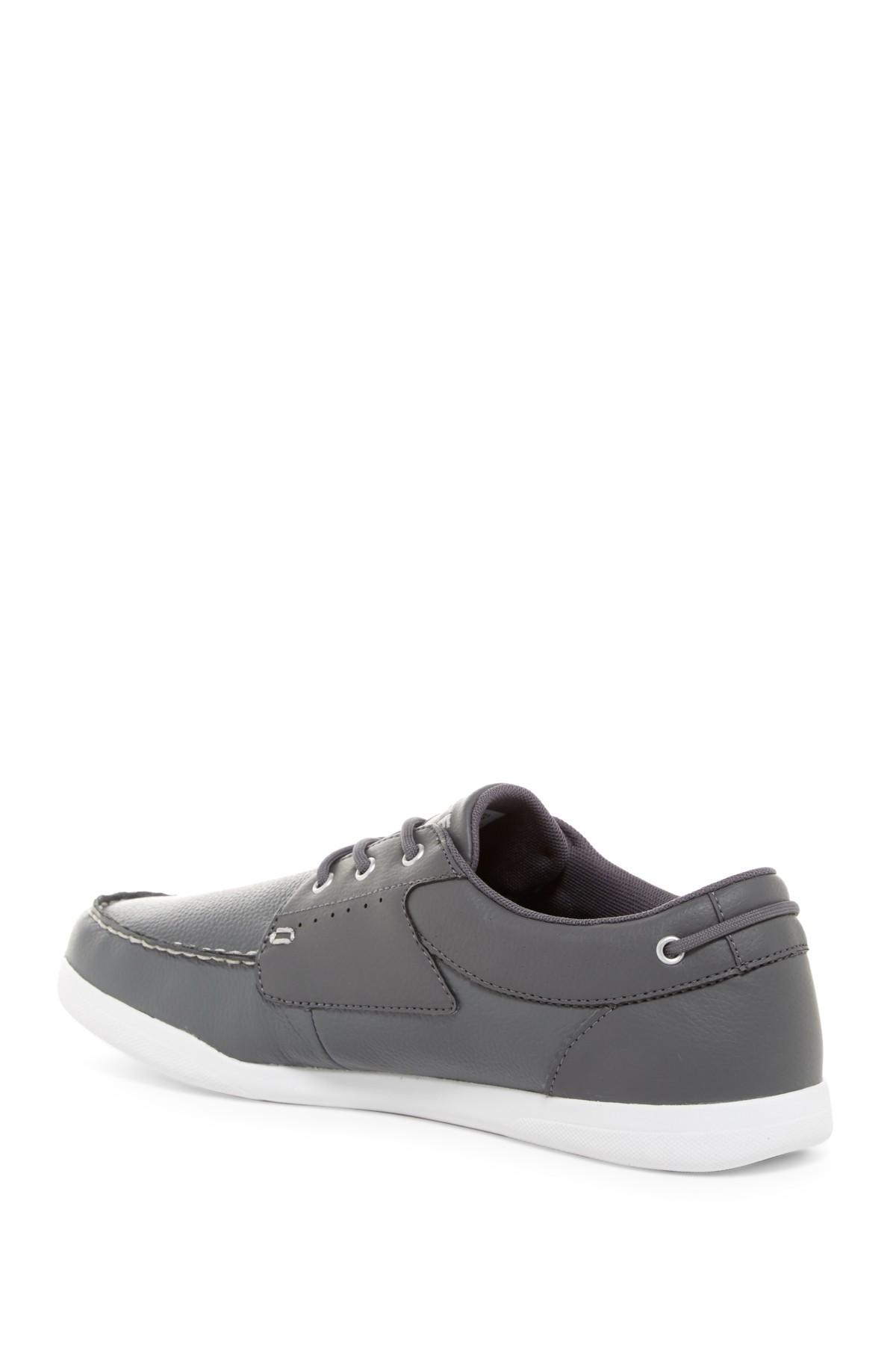 lyst lacoste codecasa boat sneaker in gray for men