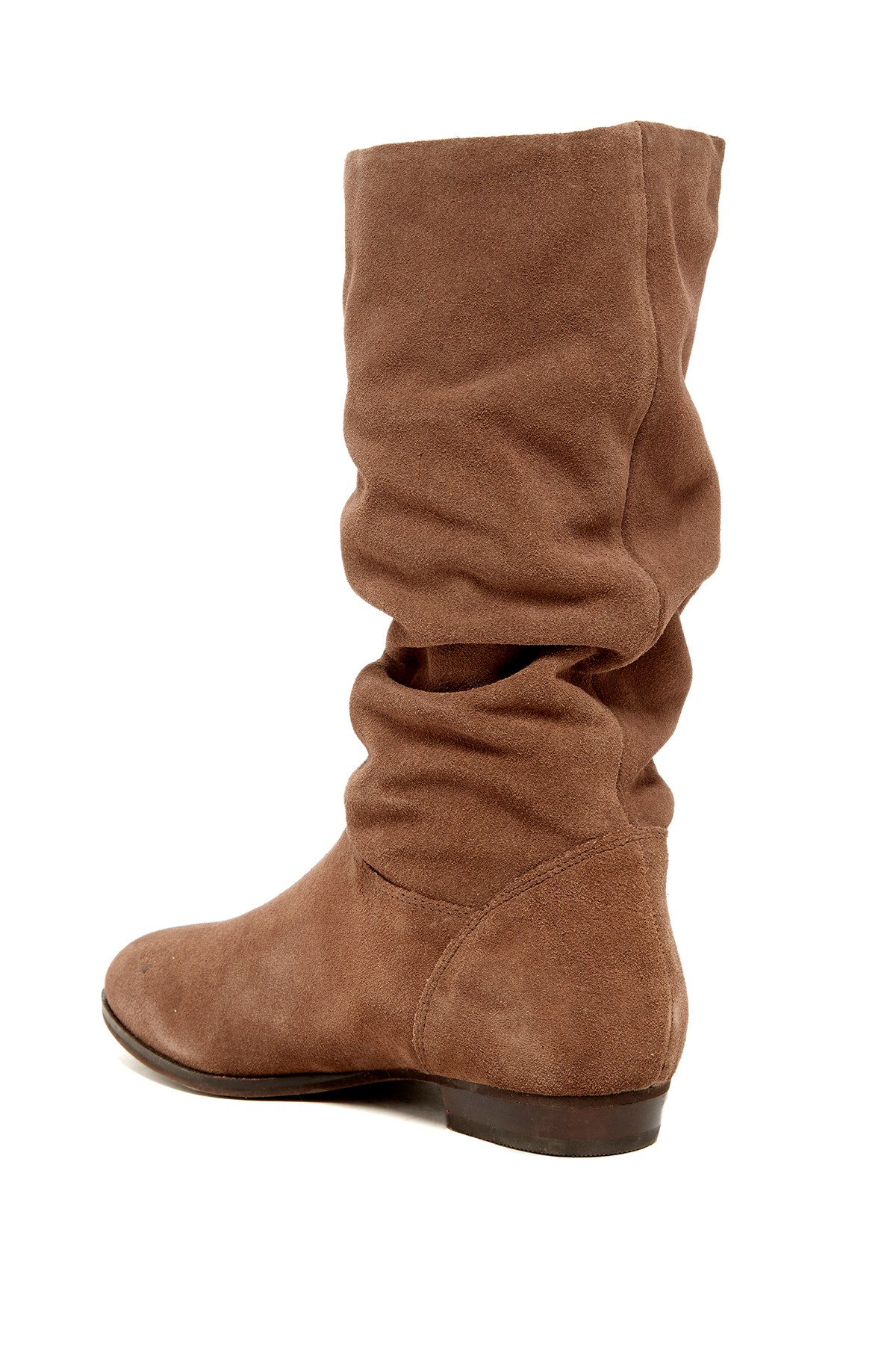 dune relissa slouch boot in brown lyst