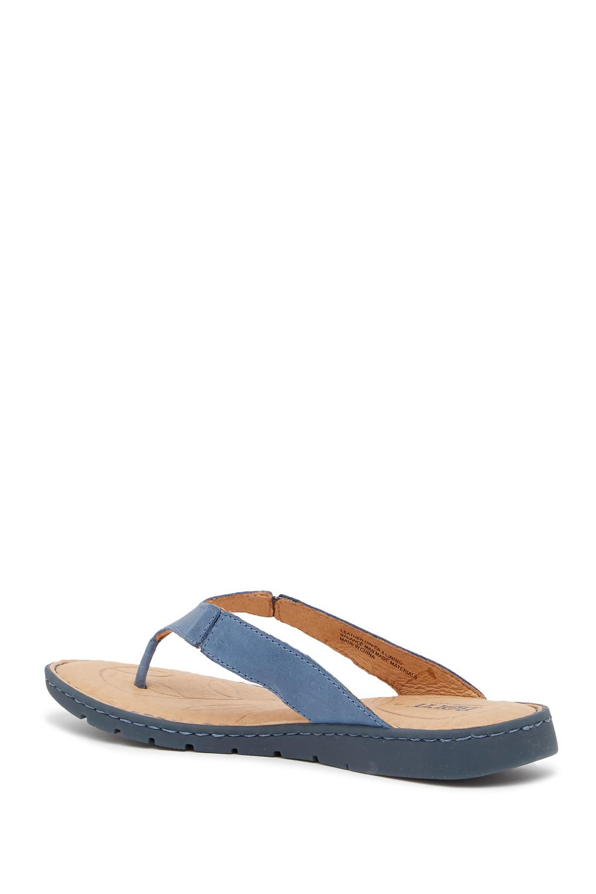 5cfdaaa9f8f5a Lyst - Born Amelie Leather Flip Flop in Blue