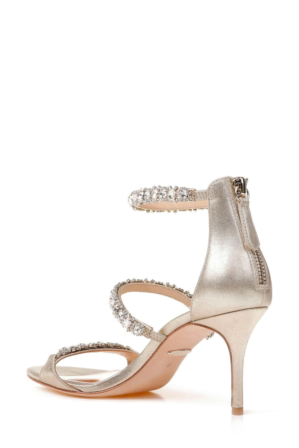 99969fdef6e5 Badgley Mischka - Metallic Yasmine Crystal Embellished Sandal - Lyst. View  fullscreen