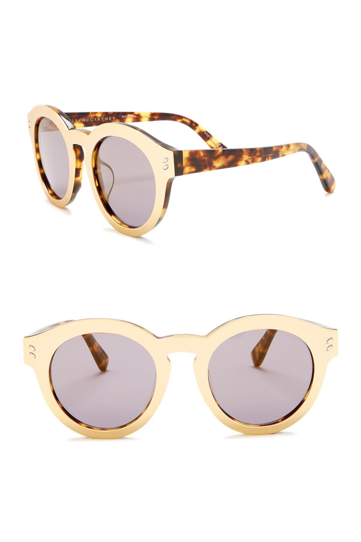 5d508740b228 Stella McCartney. Women s Metallic 50mm Round Sunglasses.  495  120 From Nordstrom  Rack