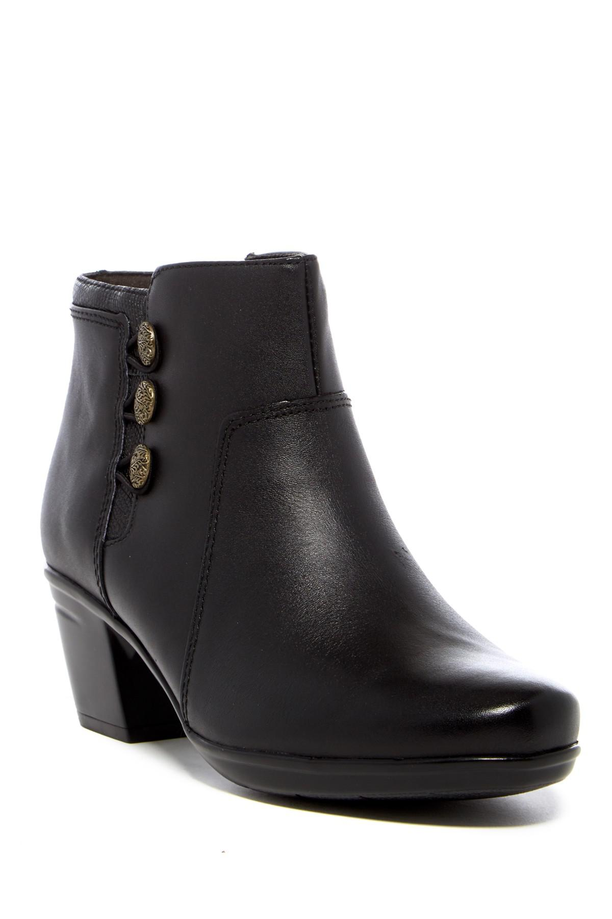 Lyst Clarks Emslie Monet Buttoned Ankle Boot Wide