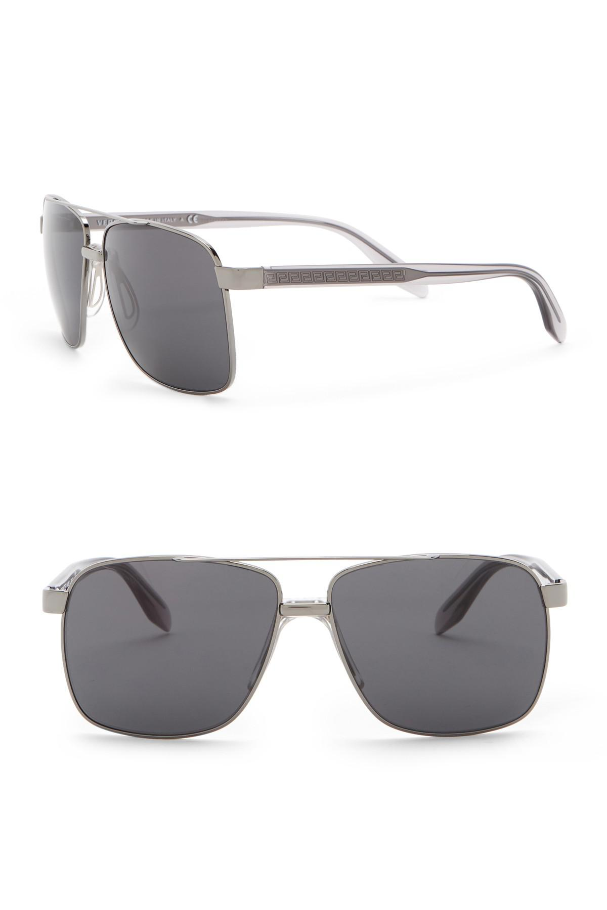c22048eb9d1d Lyst - Versace 59mm Square Sunglasses in Gray for Men