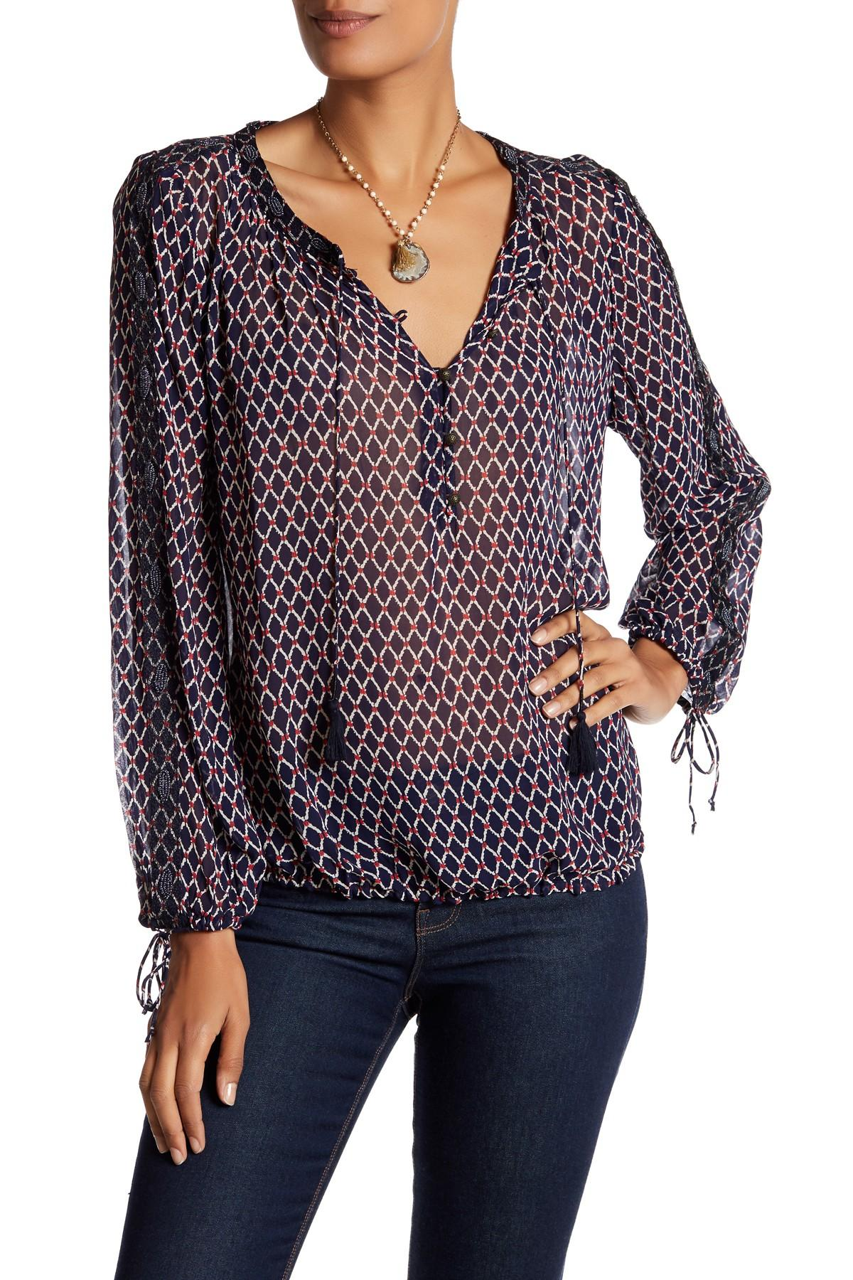 Navy Blue Blouses Tops