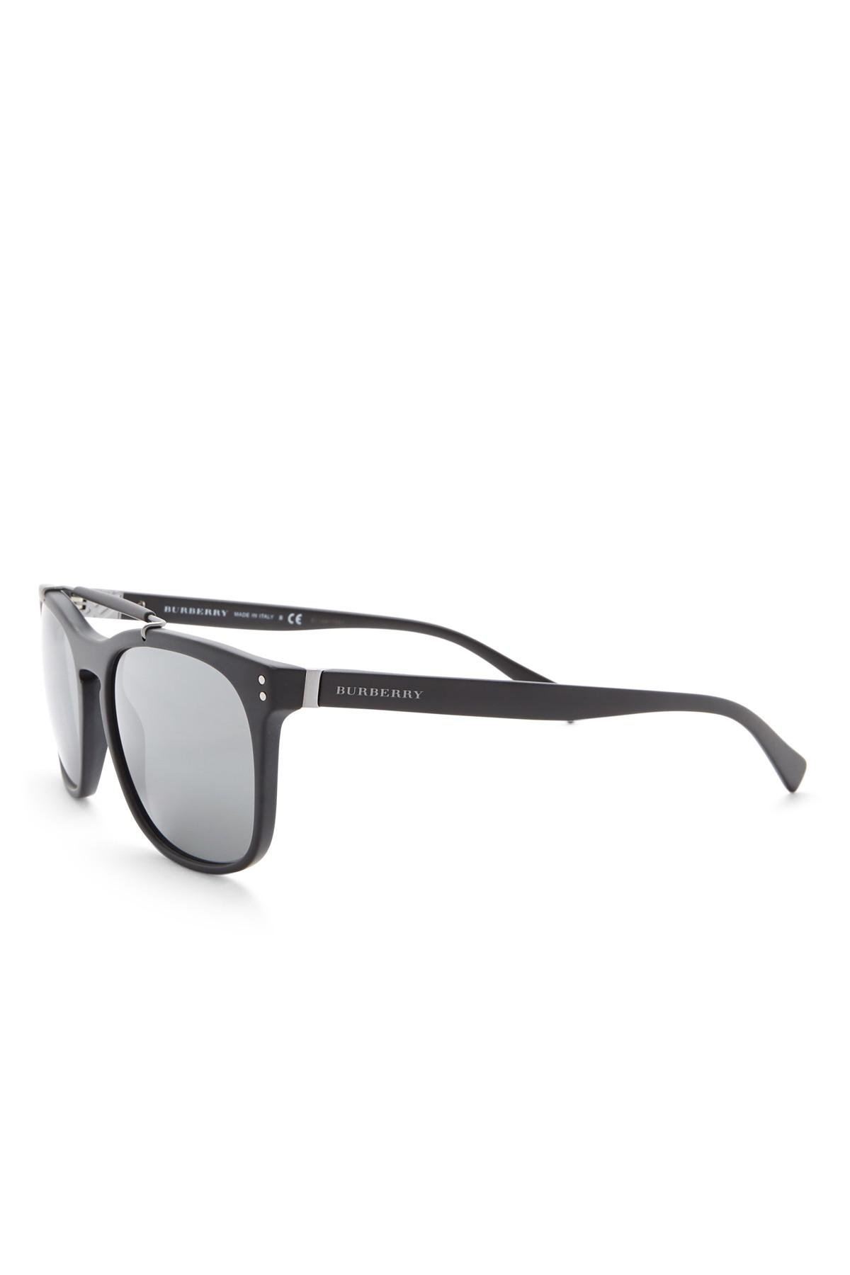 6e1d376fd73 Lyst - Burberry Men s Tailoring Mr. Sunglasses in Black for Men