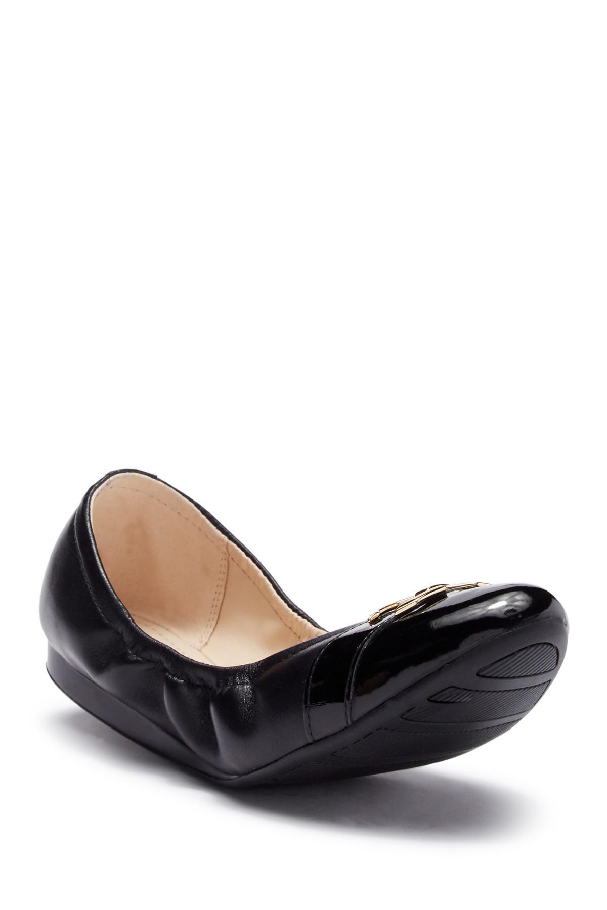 8b778cdfec3 Lyst - Cole Haan Terrin Leather Ballet Flat in Black