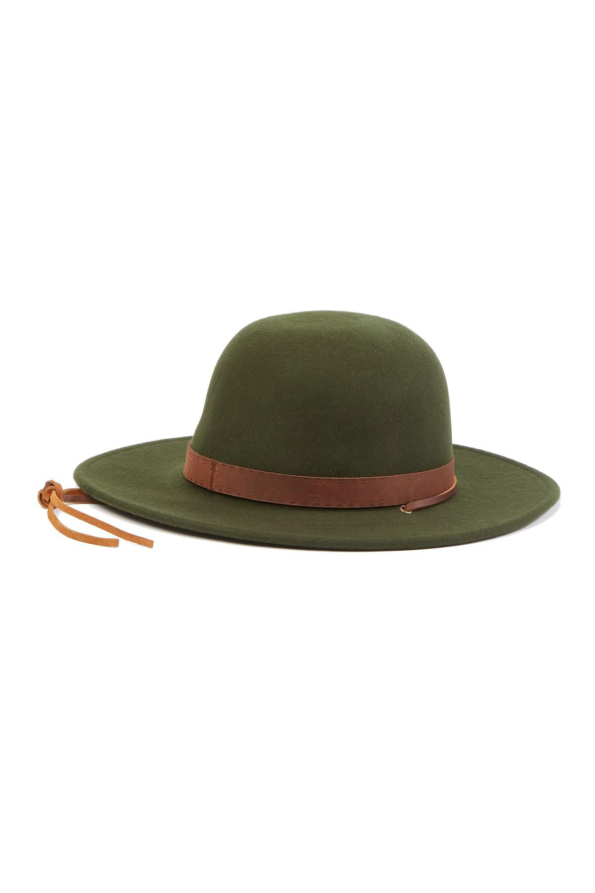 2b62aa048bea6 ... wholesale brixton green deadwood wool hat lyst. view fullscreen 4fa19  cbbff