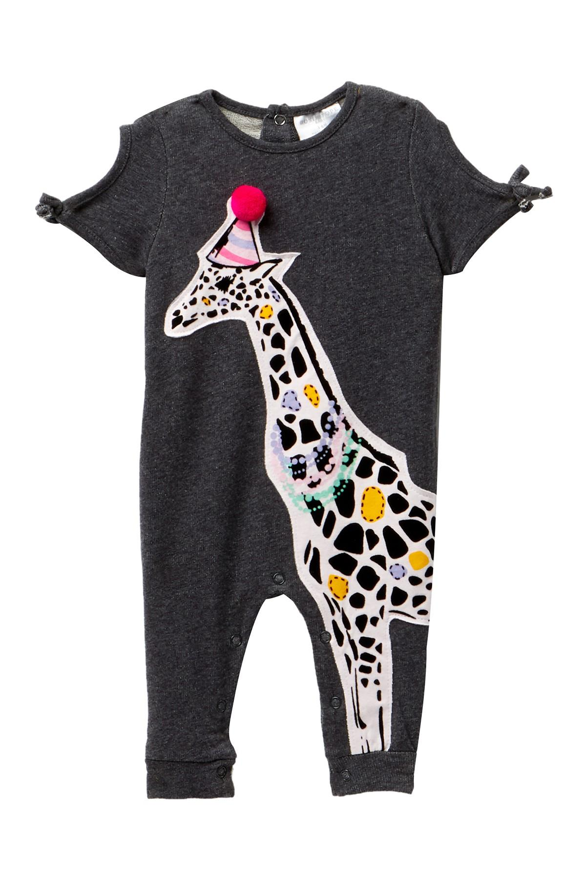 6de8d5b72a0 Lyst - Rosie Pope Giraffe Romper (baby Girls 0-12mo) in Gray