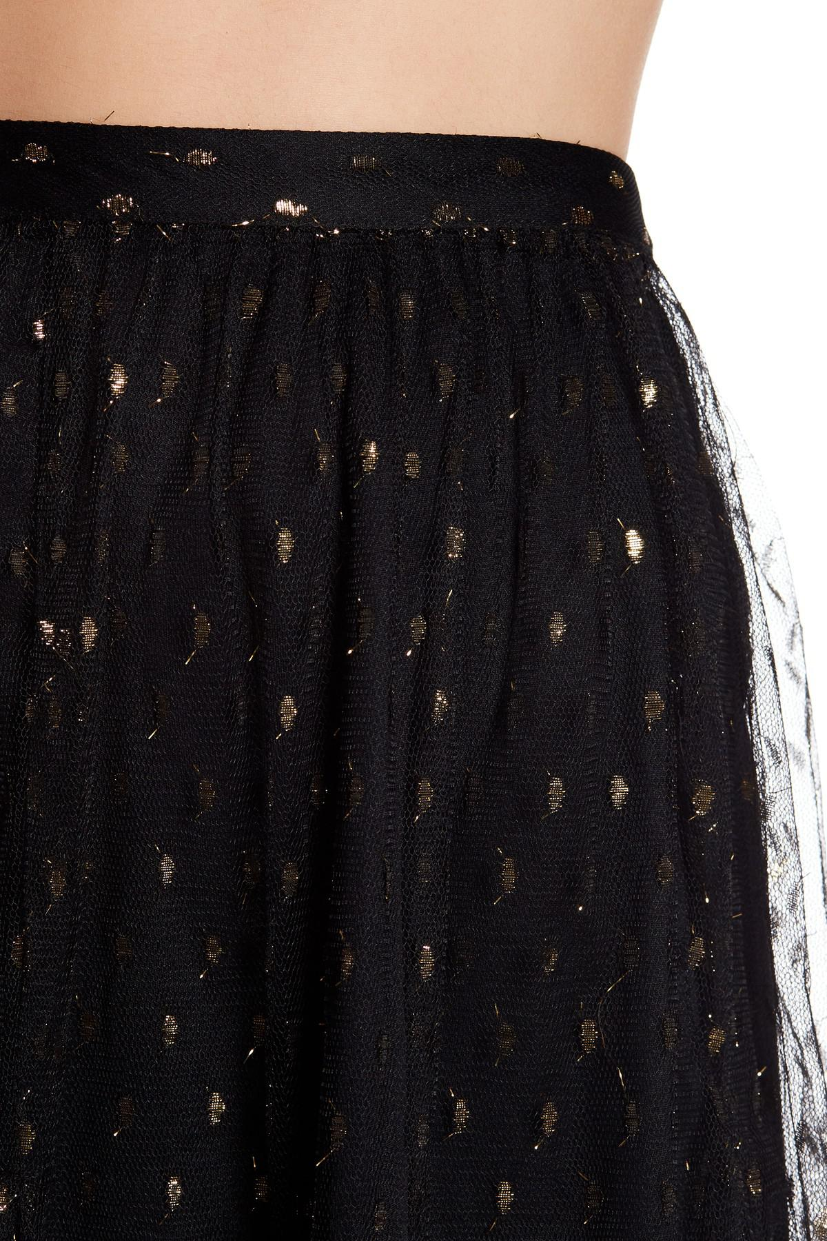faf0325e0d Eva Franco Zelda Clip Dot Midi Skirt in Black - Lyst