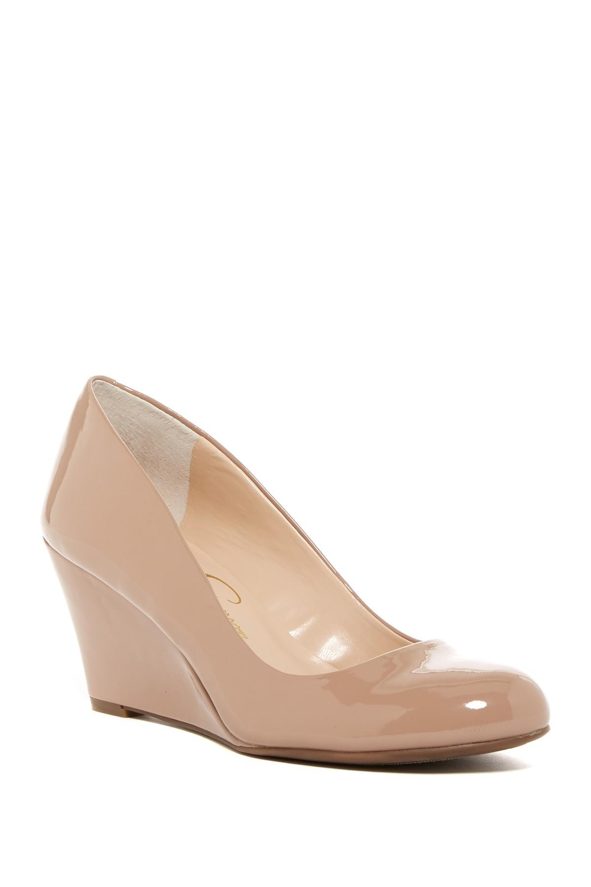a07849be4e5 Jessica Simpson. Women s Natural Suzanna Wedge Pump - Multiple Widths  Available