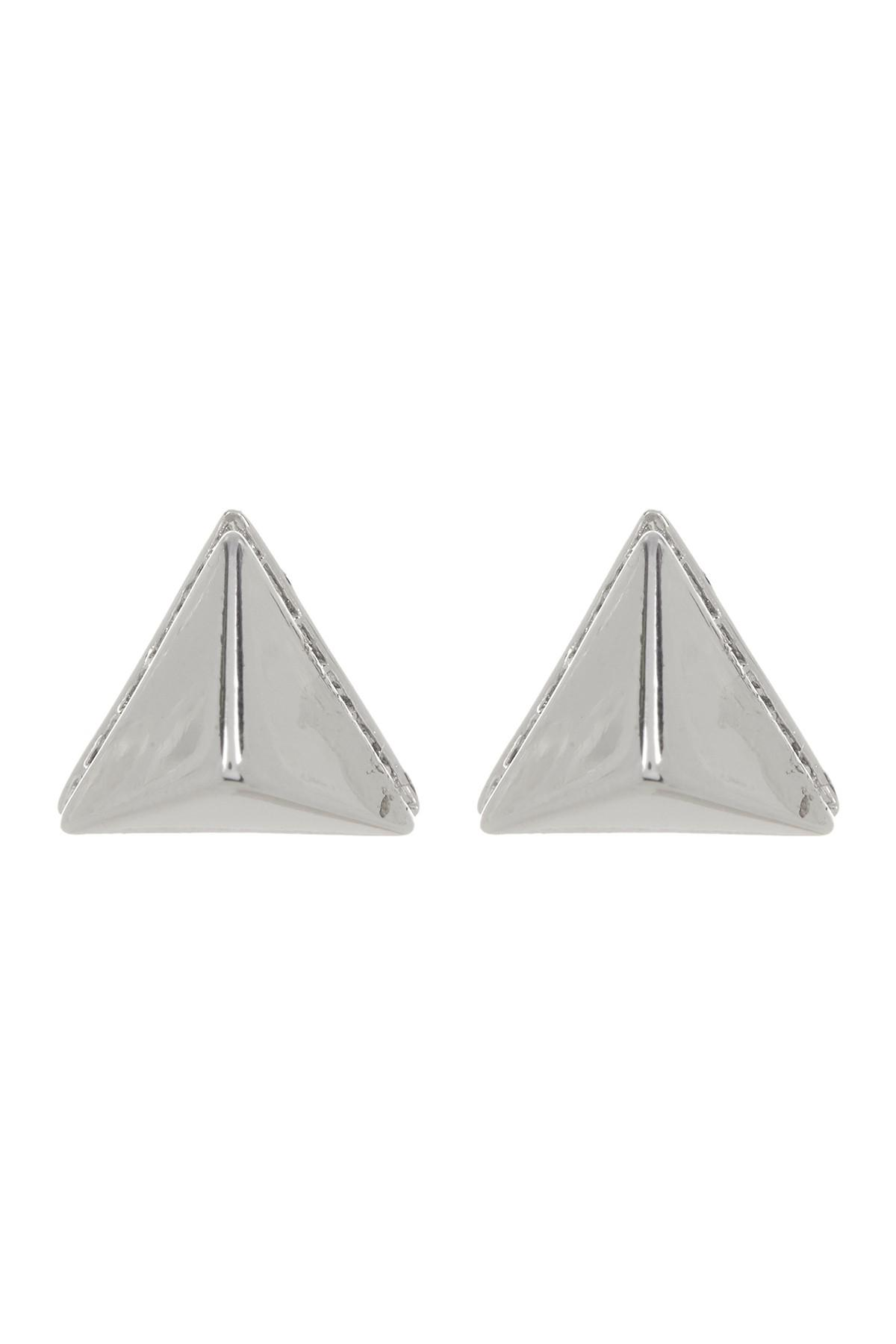 Vince Camuto Women S Metallic Crystal Accent Base Pyramid Stud Earrings
