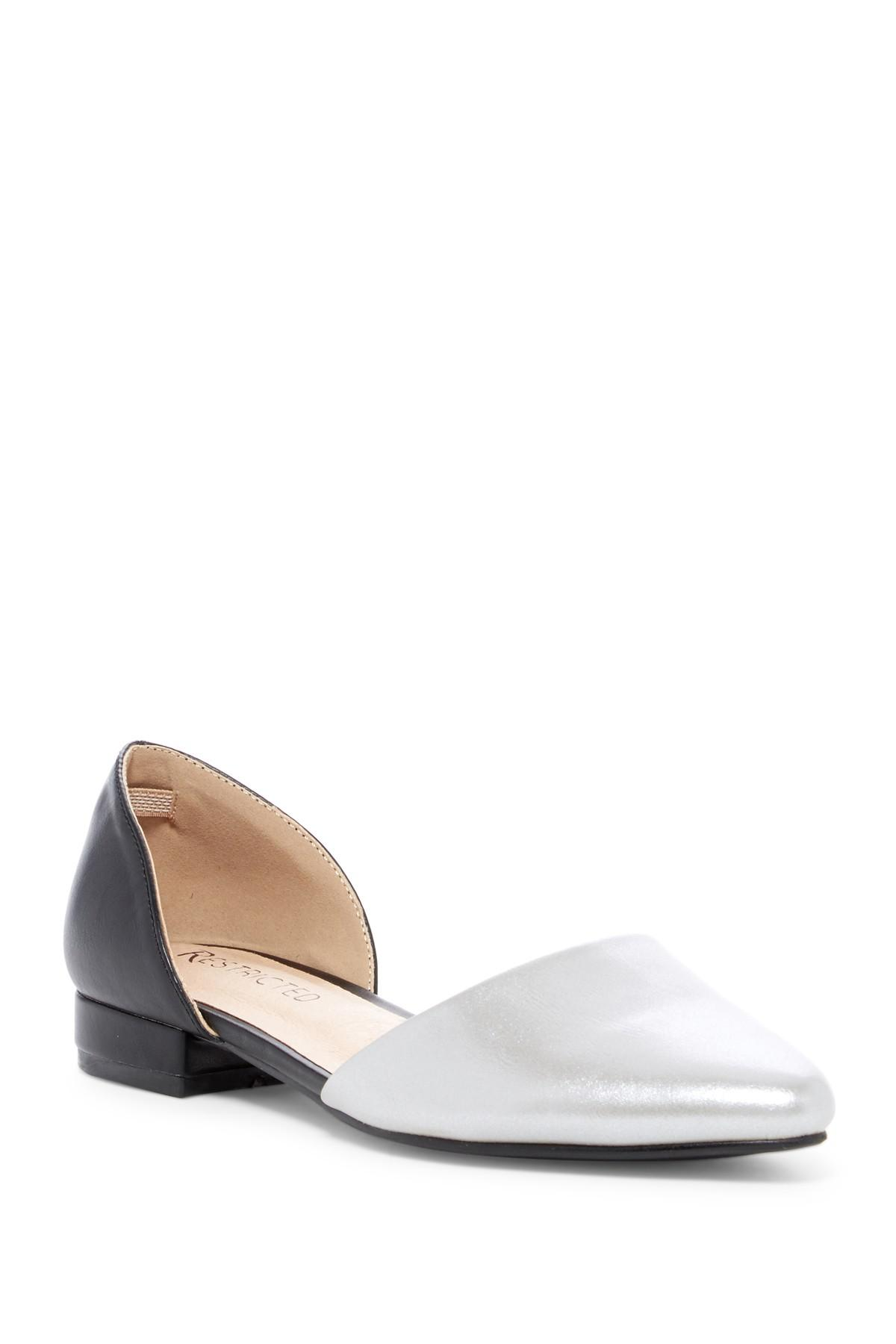 fashionable cheap online Restricted Loyal Metallic D'Orsay Flat cheap sale best sale footaction online rFdIpJBIf