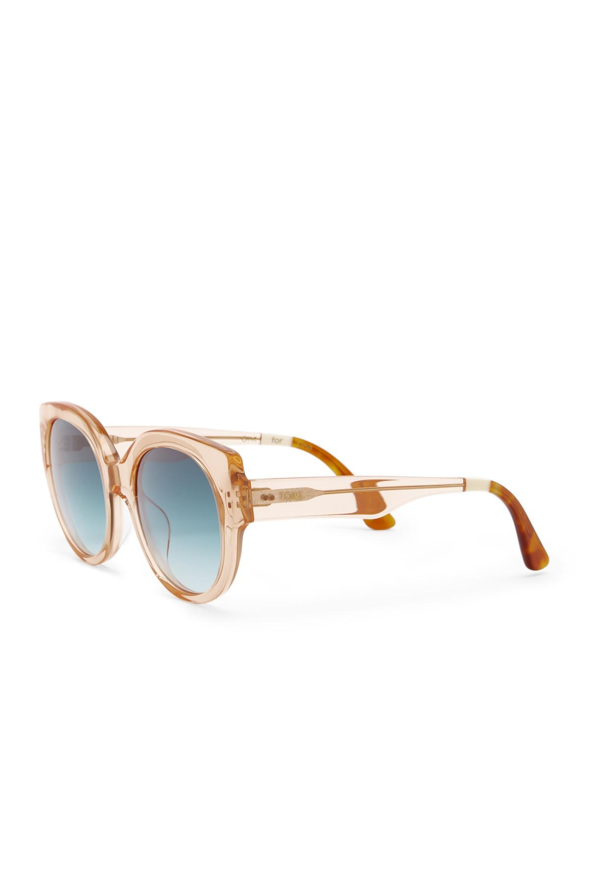 c8fa85a381bec Lyst - TOMS Luisa 54mm Cat Eye Sunglasses in Blue