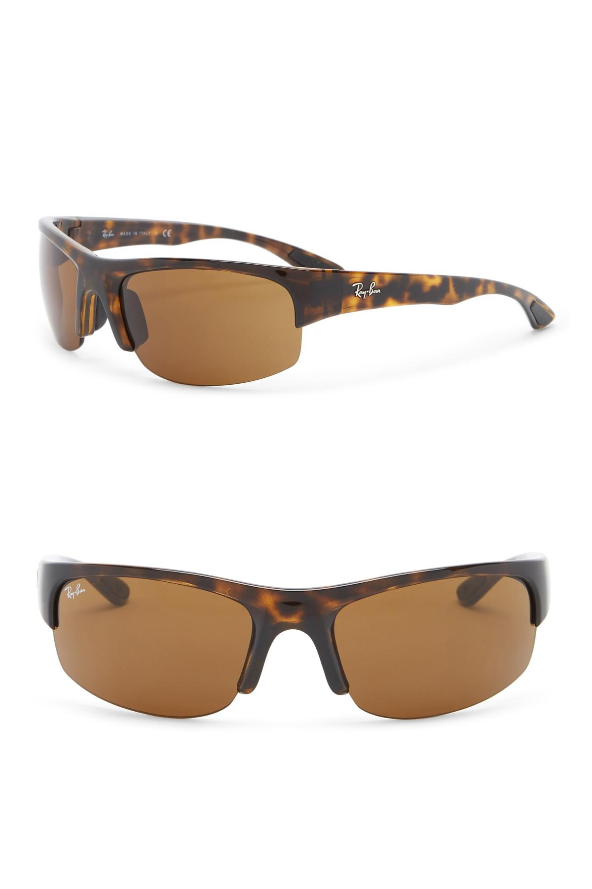74d79f41ff Lyst - Ray-Ban 62mm Shield Sunglasses in Brown for Men