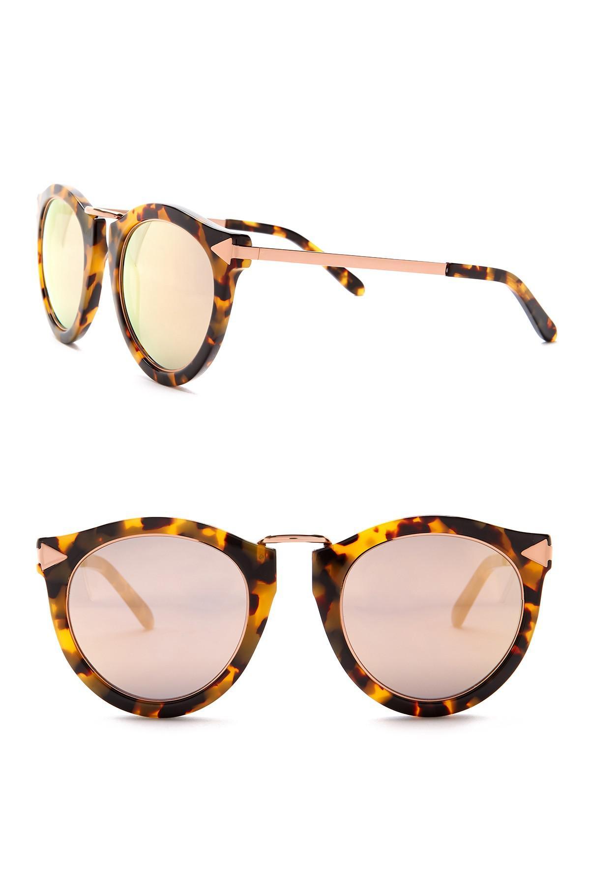 fdc4bd11ae0 Lyst - Karen Walker Harvest Superstars 58mm Round Sunglasses