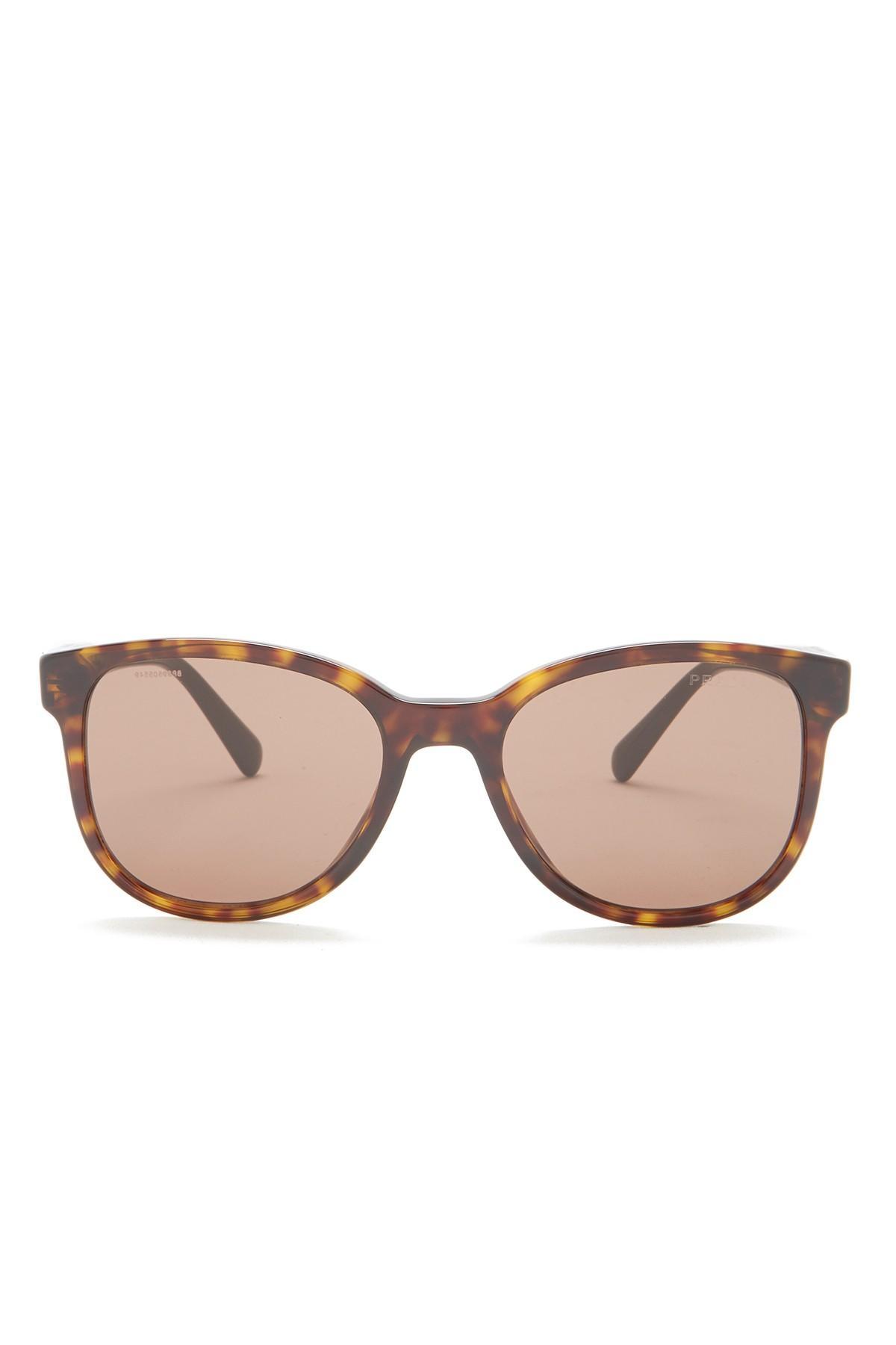 8ee6446aa5 Lyst - Prada 54mm Rectangular Sunglasses in Brown