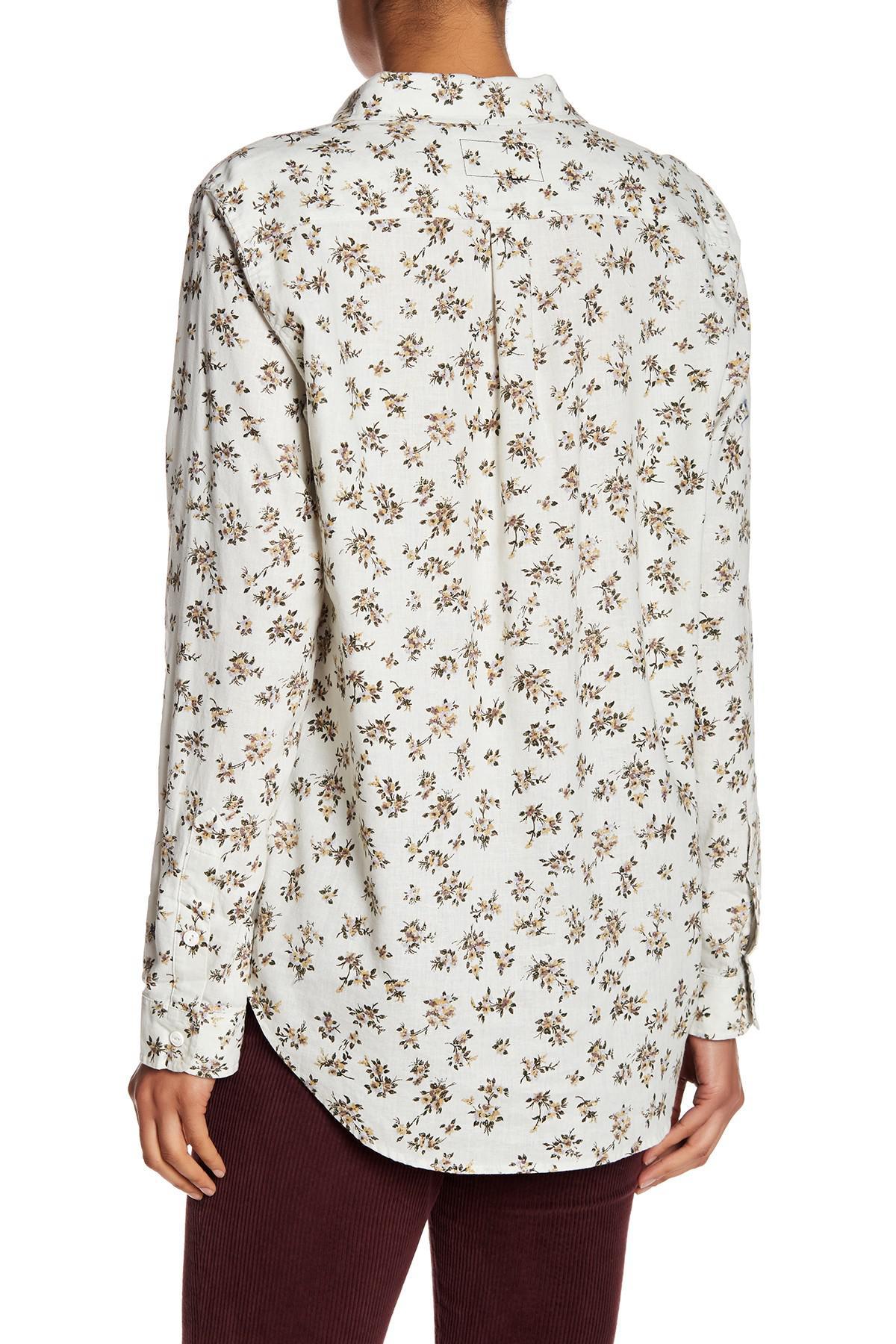 Womens Plus DAmour Cotton Poplin Shirt Current Elliott Outlet Good Selling Outlet Cheap Authentic Big Sale Online LNgklZoaQy