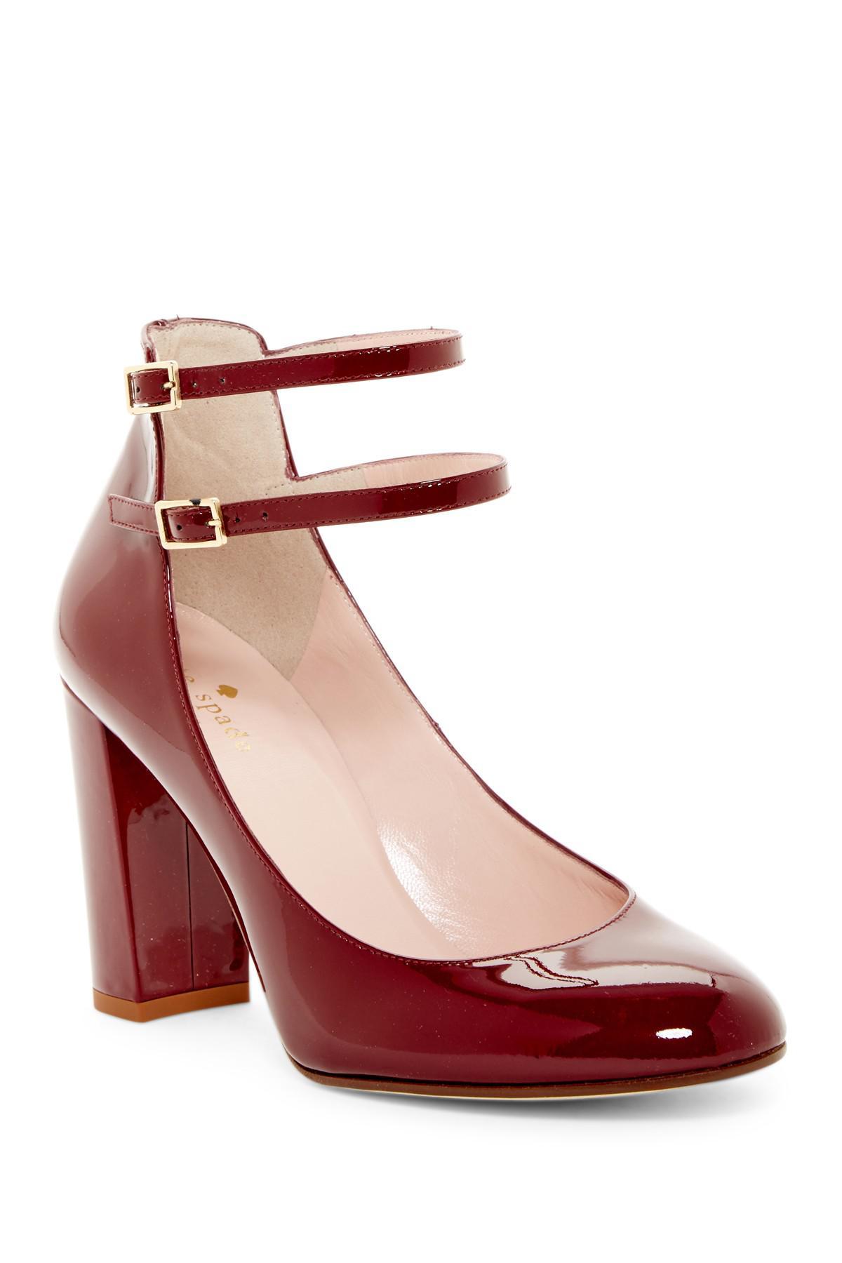 c678f5bac07f Lyst - Kate Spade Baneera Block Heel Pump in Red