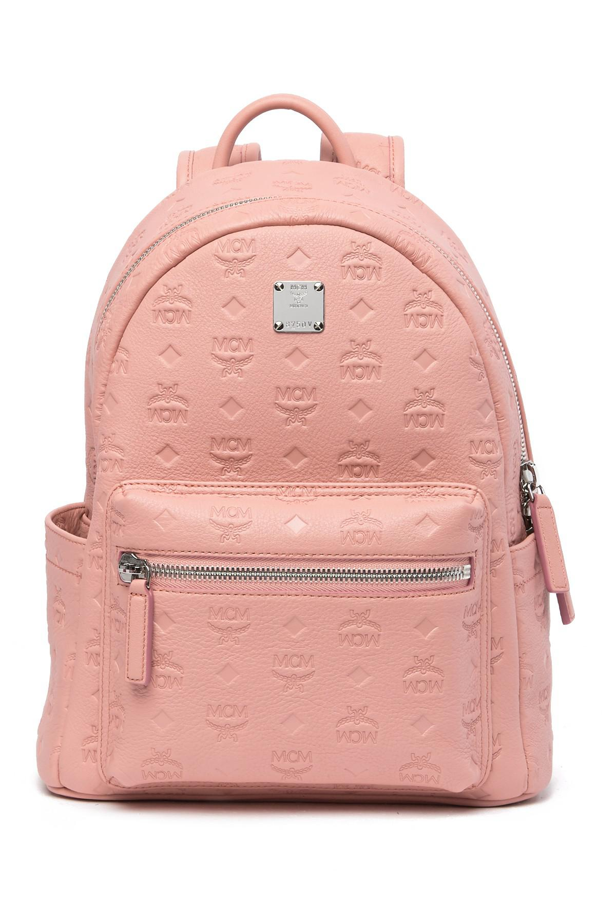 fb147347df MCM. Women s Pink Ottomar Monogrammed Leather Backpack.  795  390 From Nordstrom  Rack
