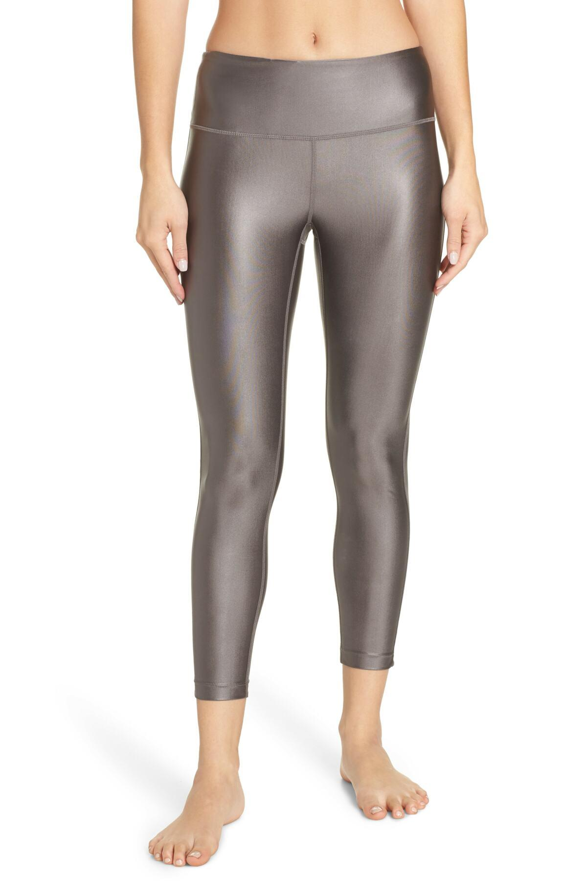 dee2ad457f6193 Lyst - Zella High Waist Shine 7/8 Leggings in Gray