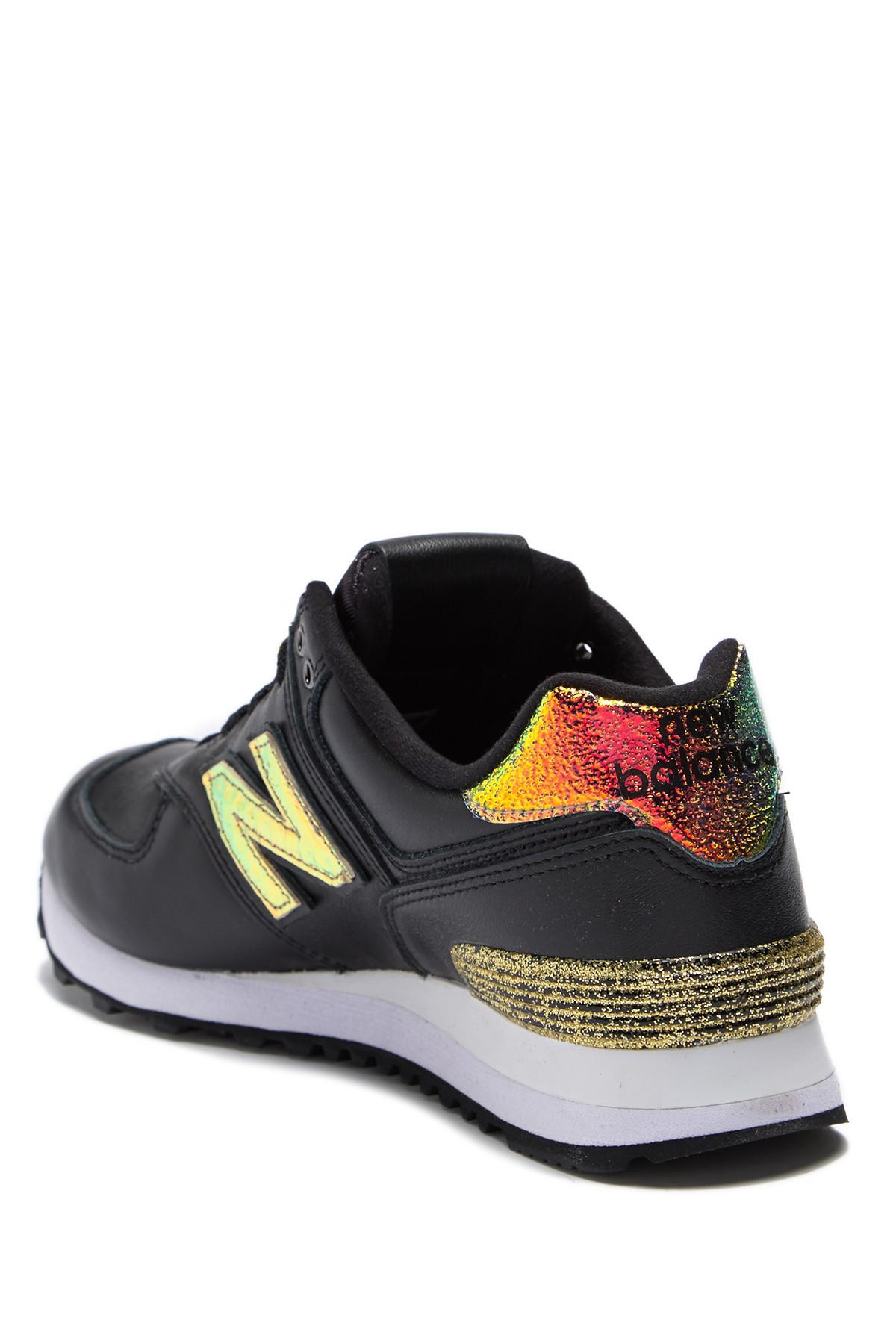 info for db2a2 90198 New Balance 574 Glitter Punk Sneaker (women) in Black - Lyst