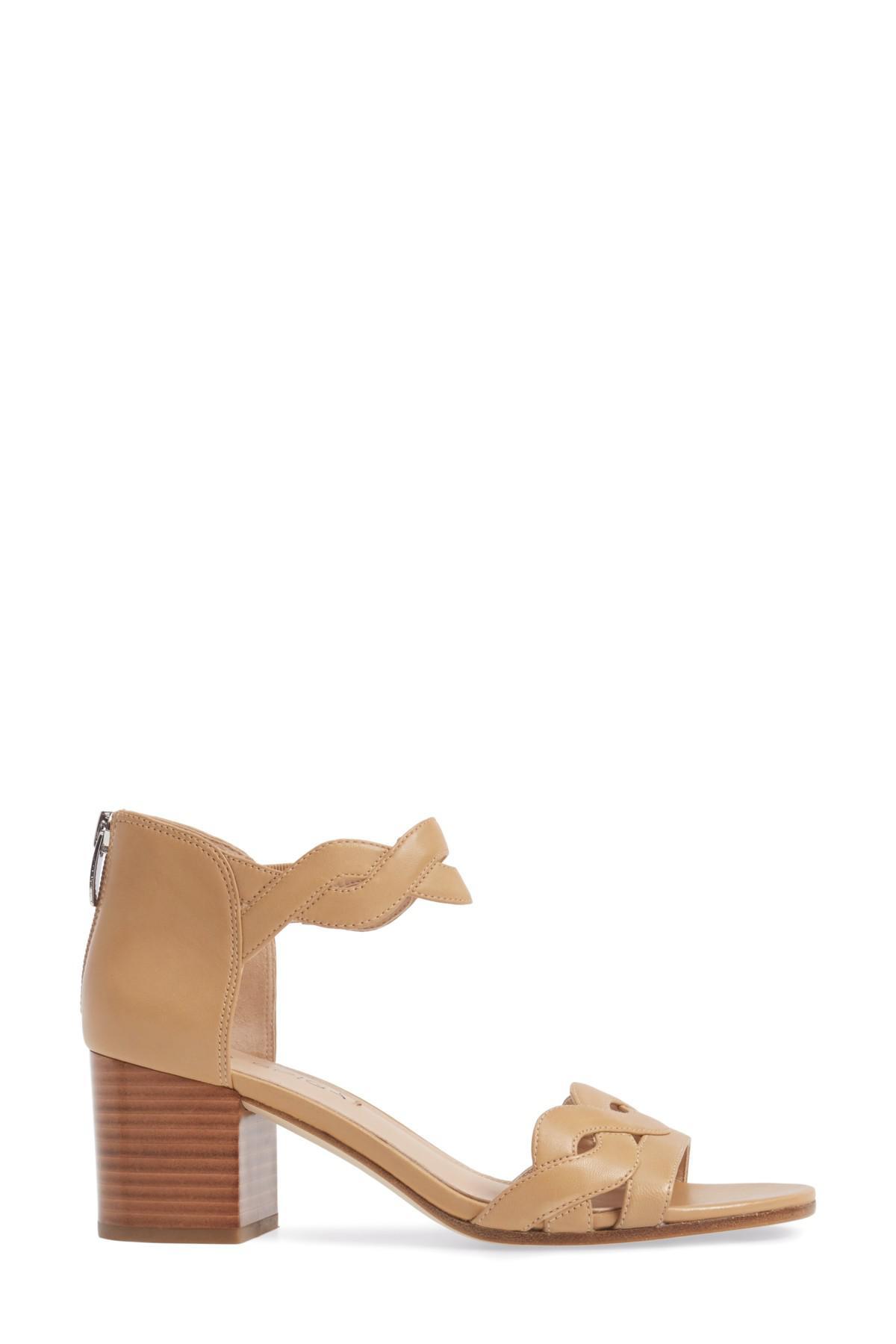 cac0482b550f Lyst - Via Spiga Janel Block Heel Sandal (women) in Natural