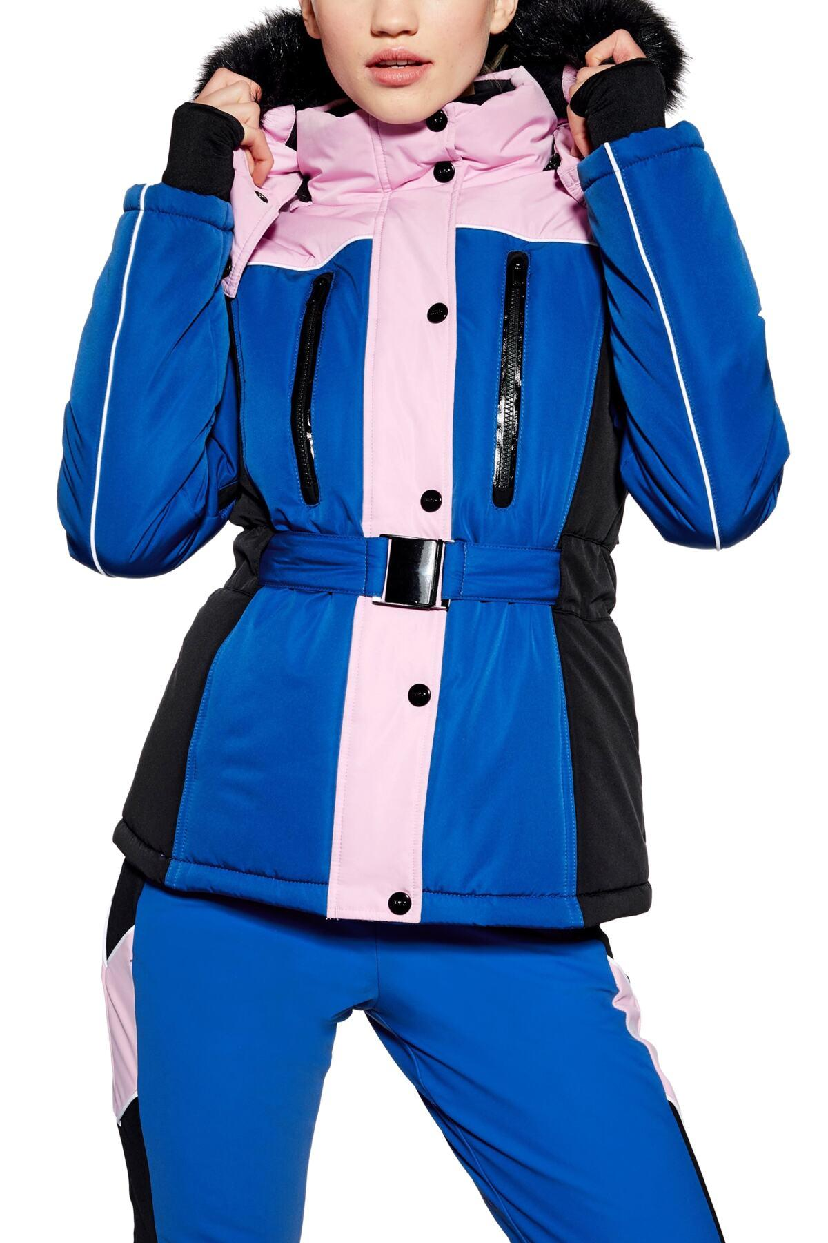 9fc16ff2f8ab TOPSHOP colour Block Fitted Jacket By Sno in Blue - Lyst