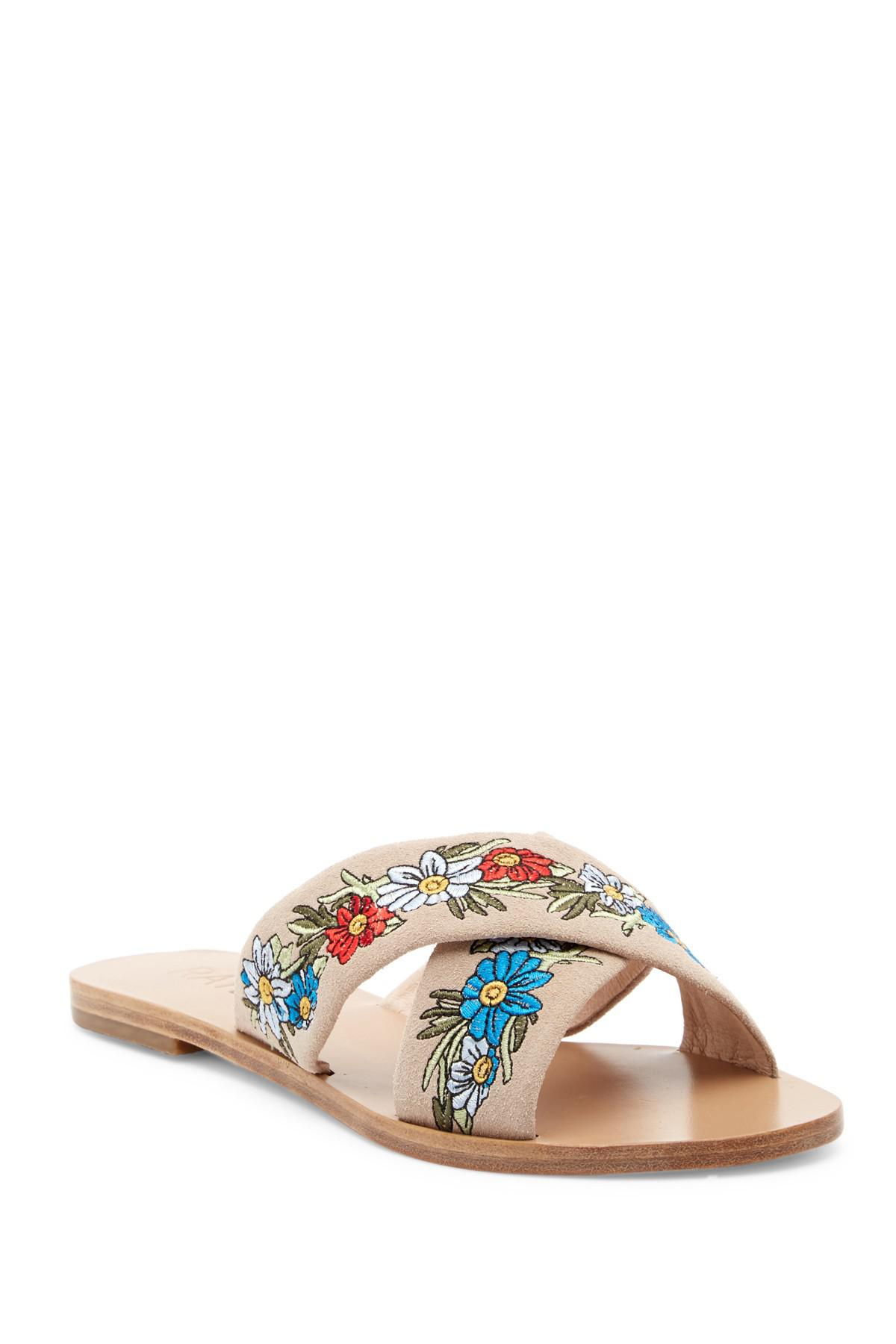 RAYE Sully Embroidered Slide Sandal 4vufsmb