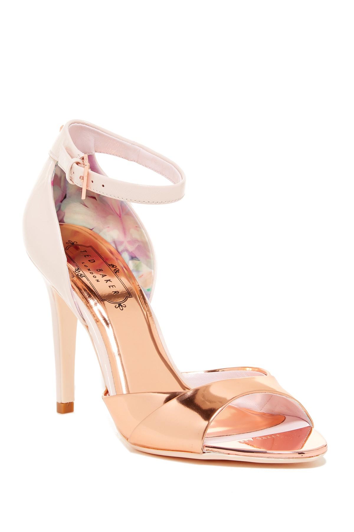 ted baker camiyl heel sandal in pink lyst. Black Bedroom Furniture Sets. Home Design Ideas