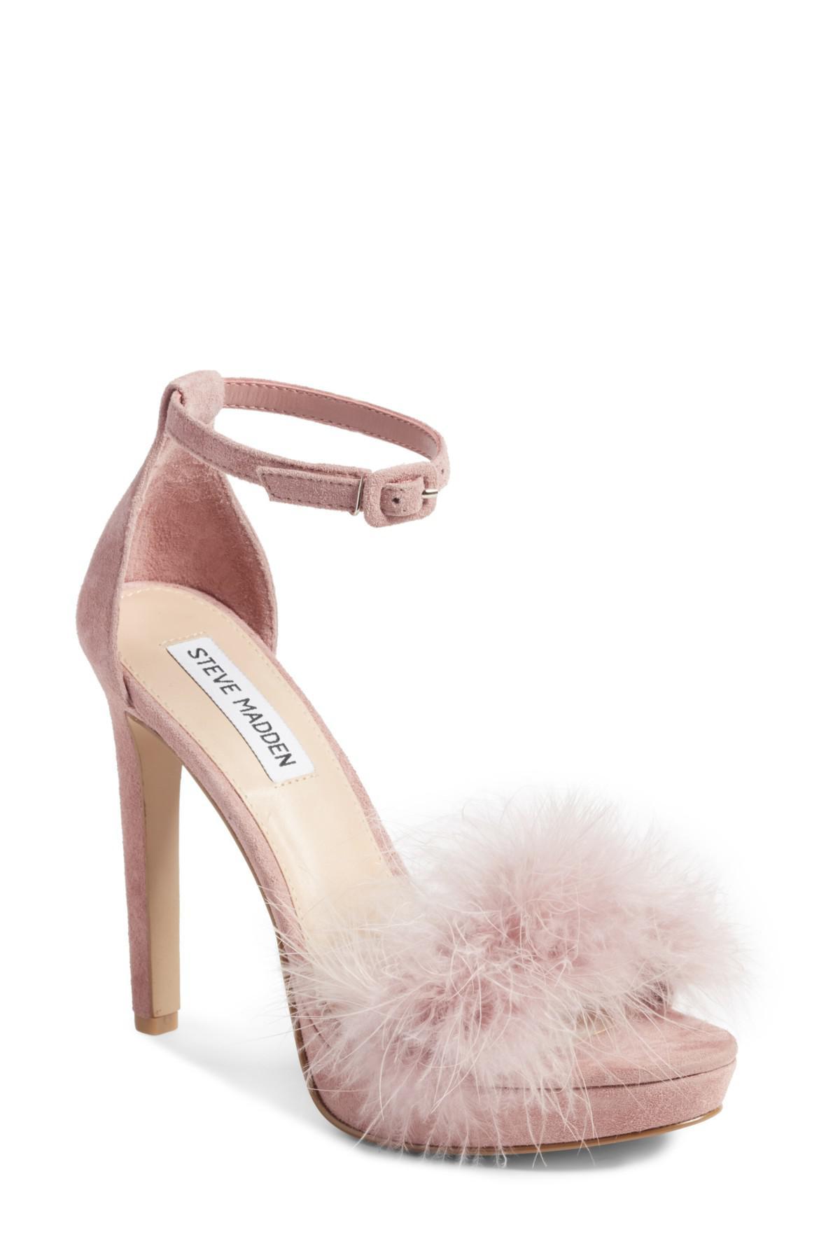 bacdb11948b3 Lyst - Steve Madden Clutch Ankle Strap Sandal (women) in Pink