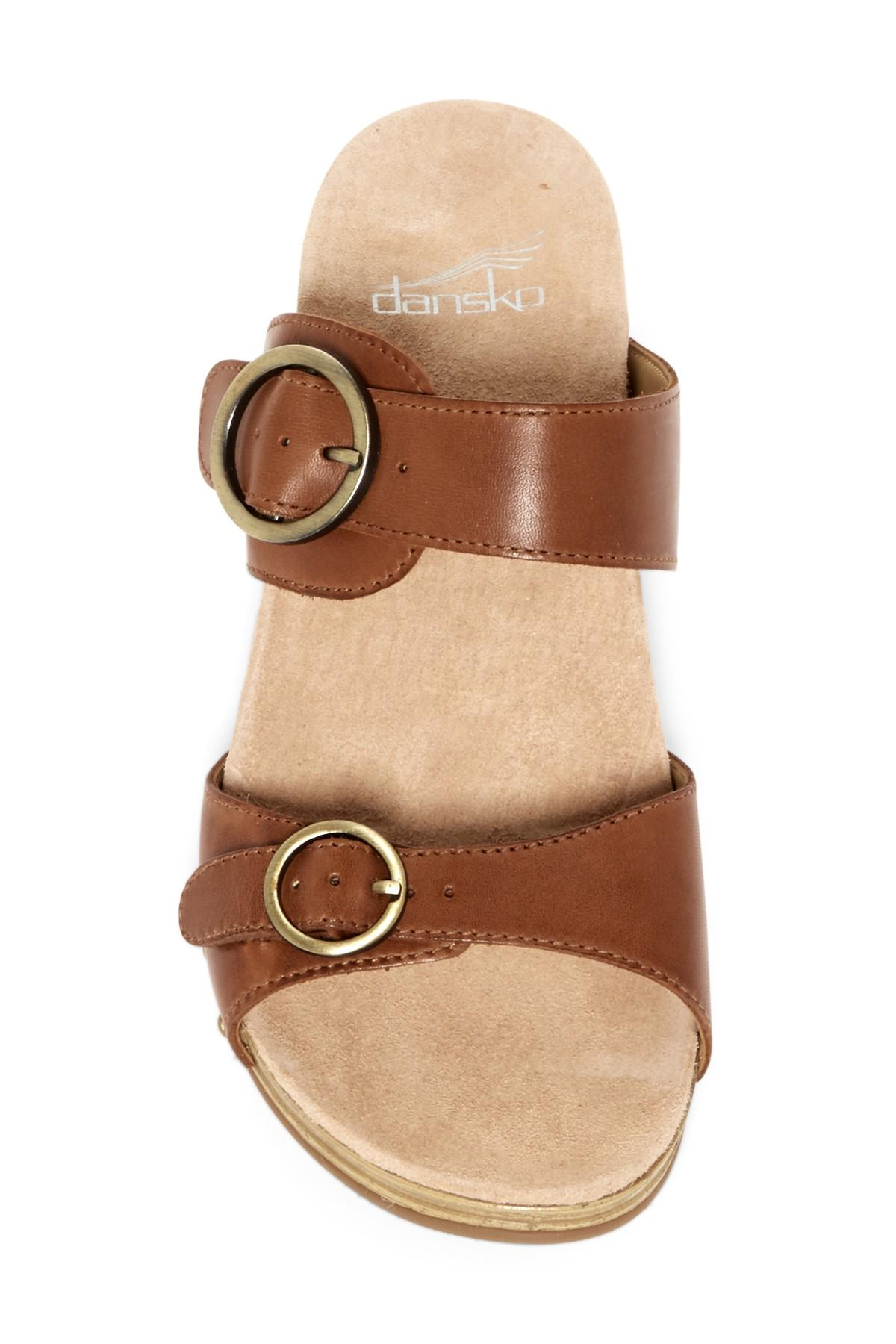 Lyst Dansko Manda Slide Sandals In Brown