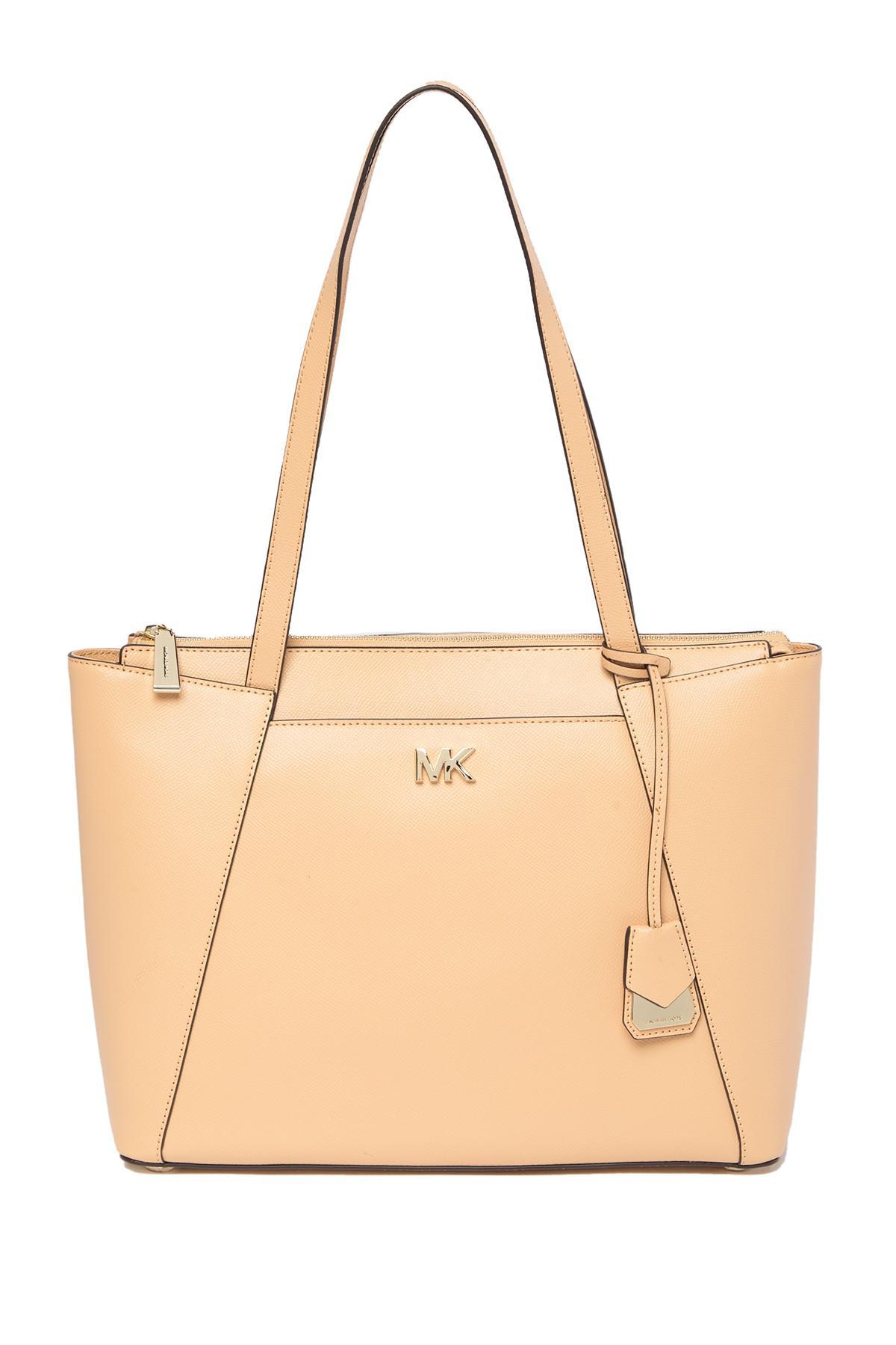 aa71985b6e6d Lyst - MICHAEL Michael Kors Maddie Leather Tote Bag