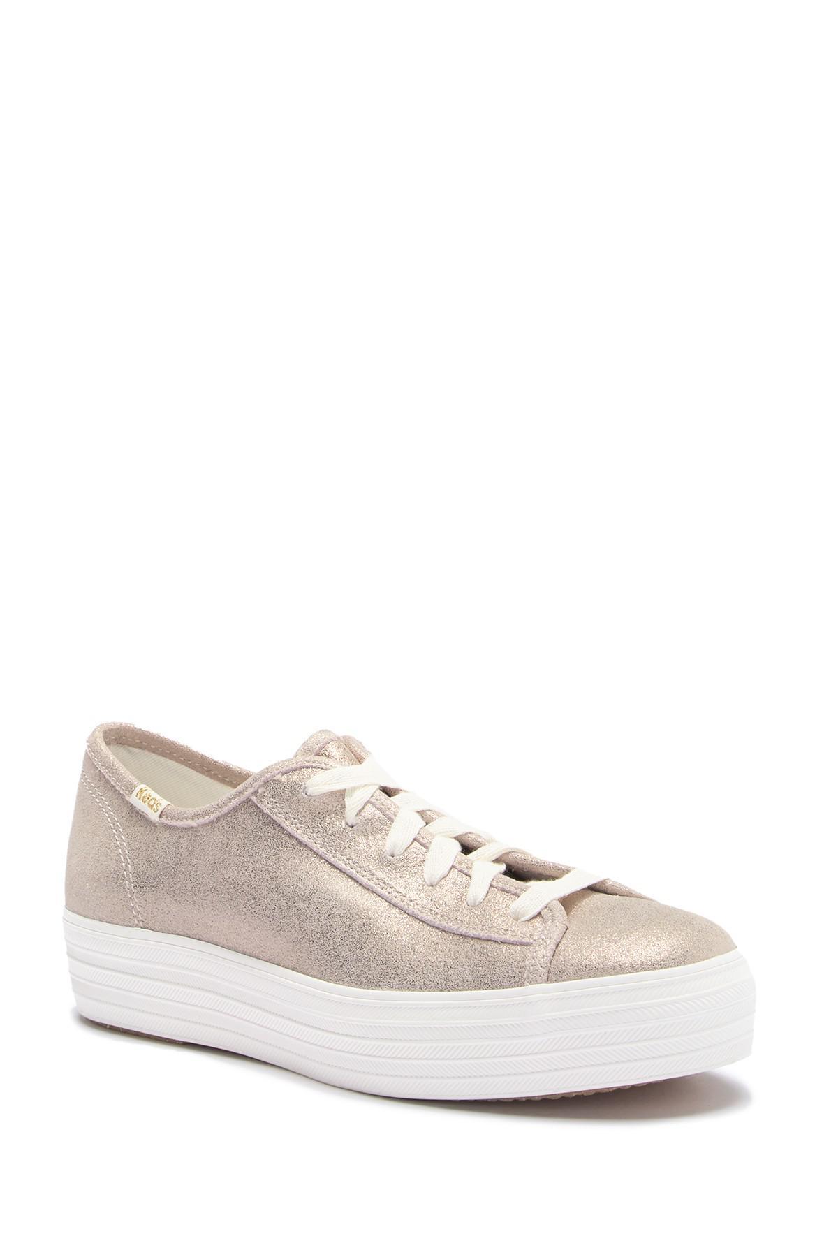 30c3d3083712 Lyst - Keds Triple Kick Glitter Suede Platform Sneaker - Save 34%