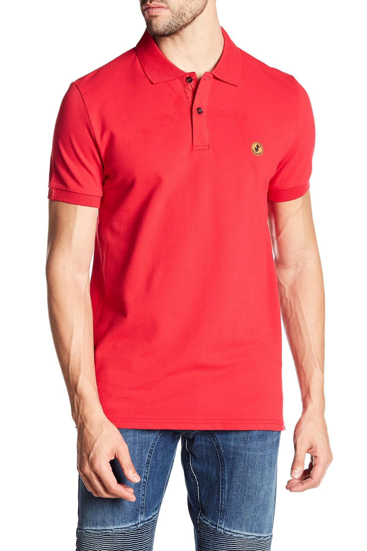 31de4d6c8974a Save The Duck Short Sleeved Polo Shirt in Red for Men - Lyst