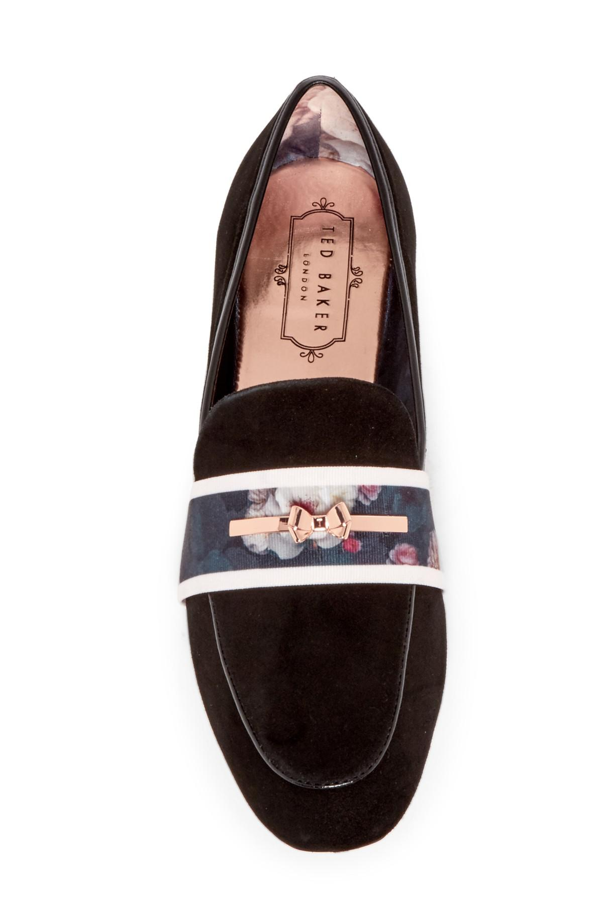 aa7dabca61f3 Lyst - Ted Baker Eliena Suede Banded Loafer in Black