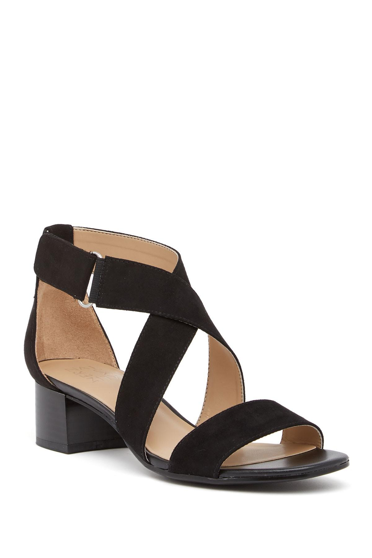 45532570632 Lyst - Naturalizer Adele Block Heel Sandal - Wide Width Available in ...
