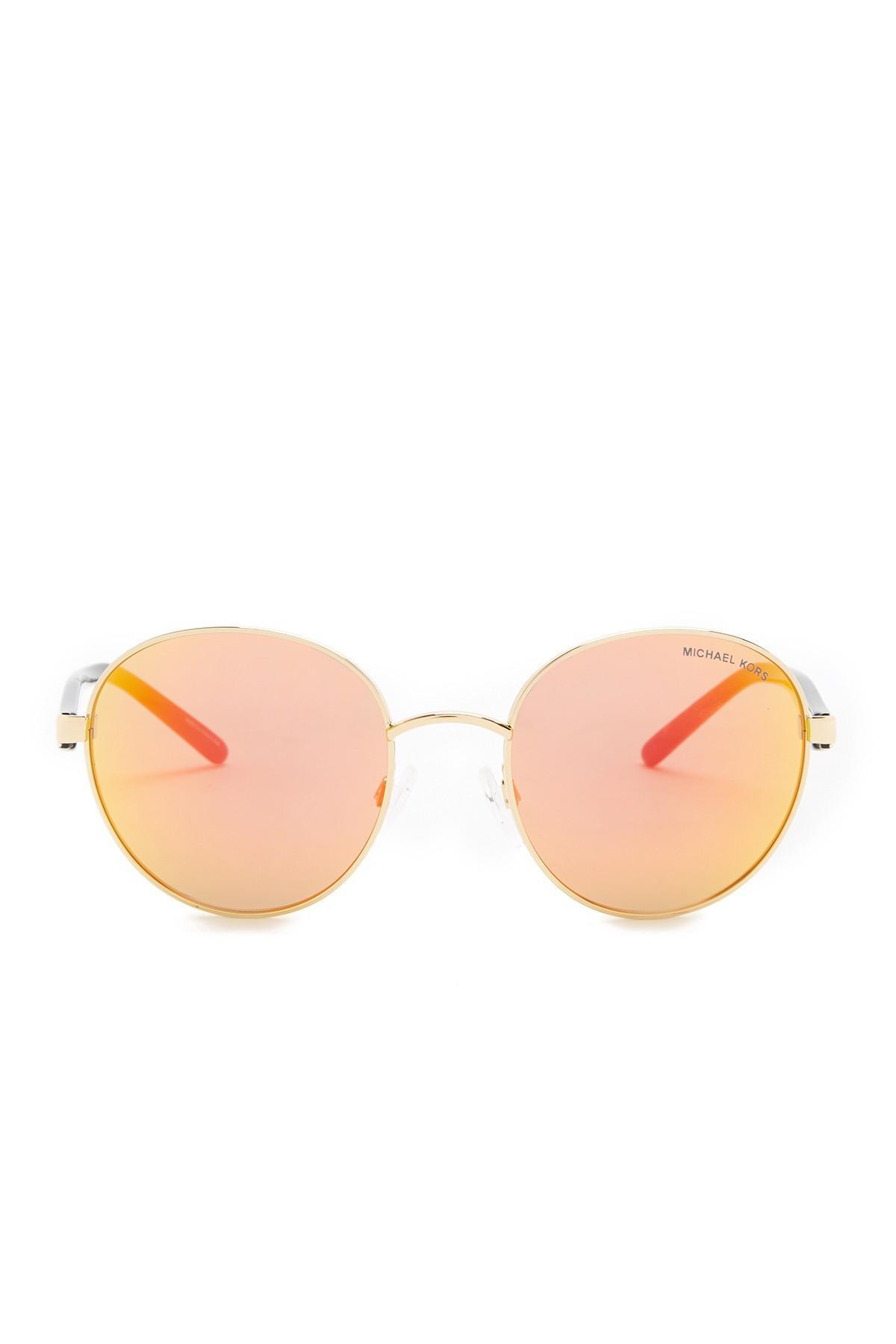 9ccfeb6edff18 Lyst - Michael Kors Women s Sadie Iii Round Sunglasses