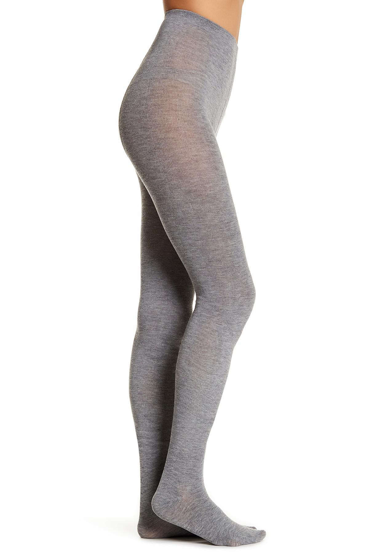 2a043e3eec13a Hue Flat-knit Sweater Tights - Pack Of 2 in Gray - Lyst
