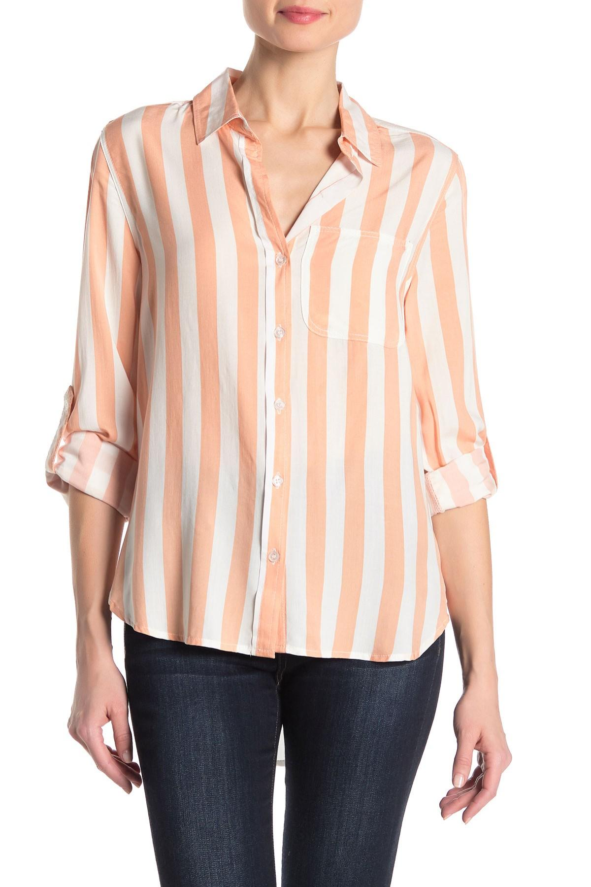 0123c8a6c1 Lyst - Velvet Heart Striped Button Down Shirt in Pink