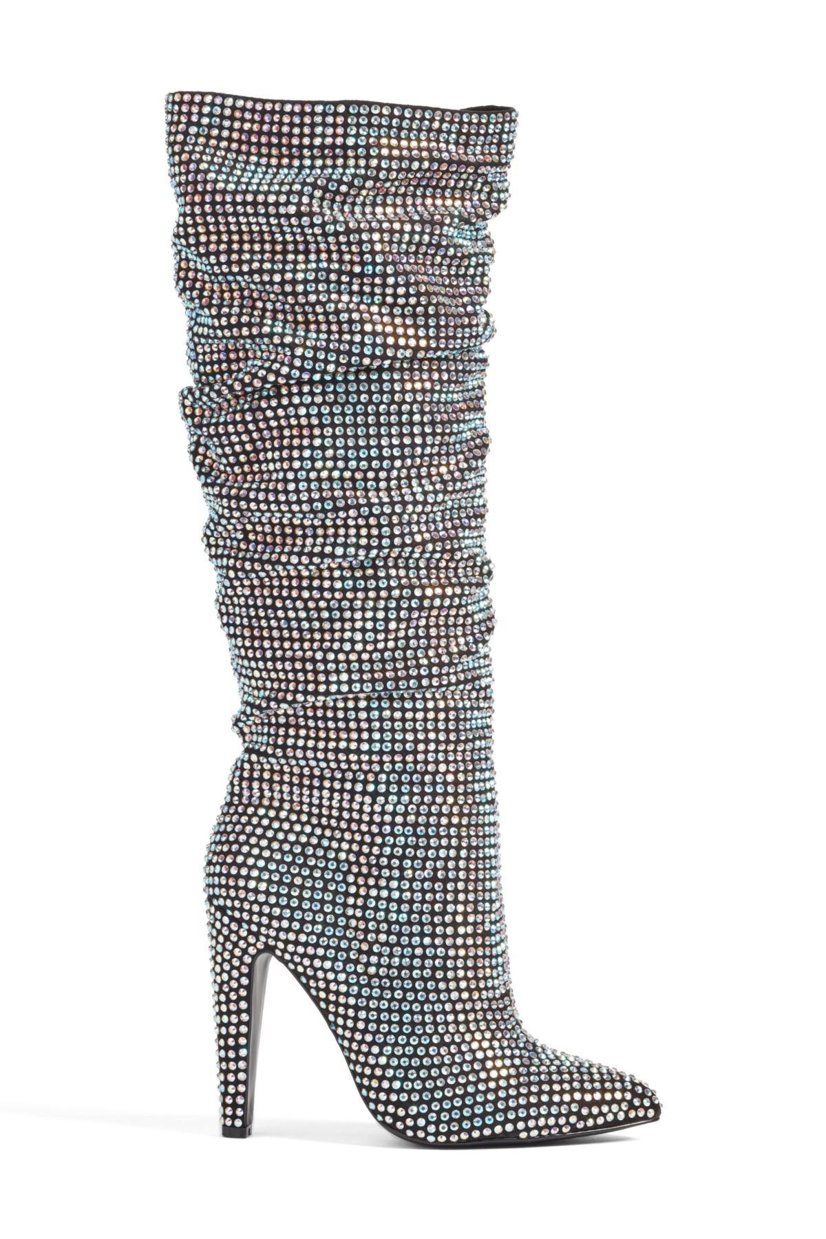 8b4200386293 Lyst - Steve Madden Crushing Embellished Boot (women)