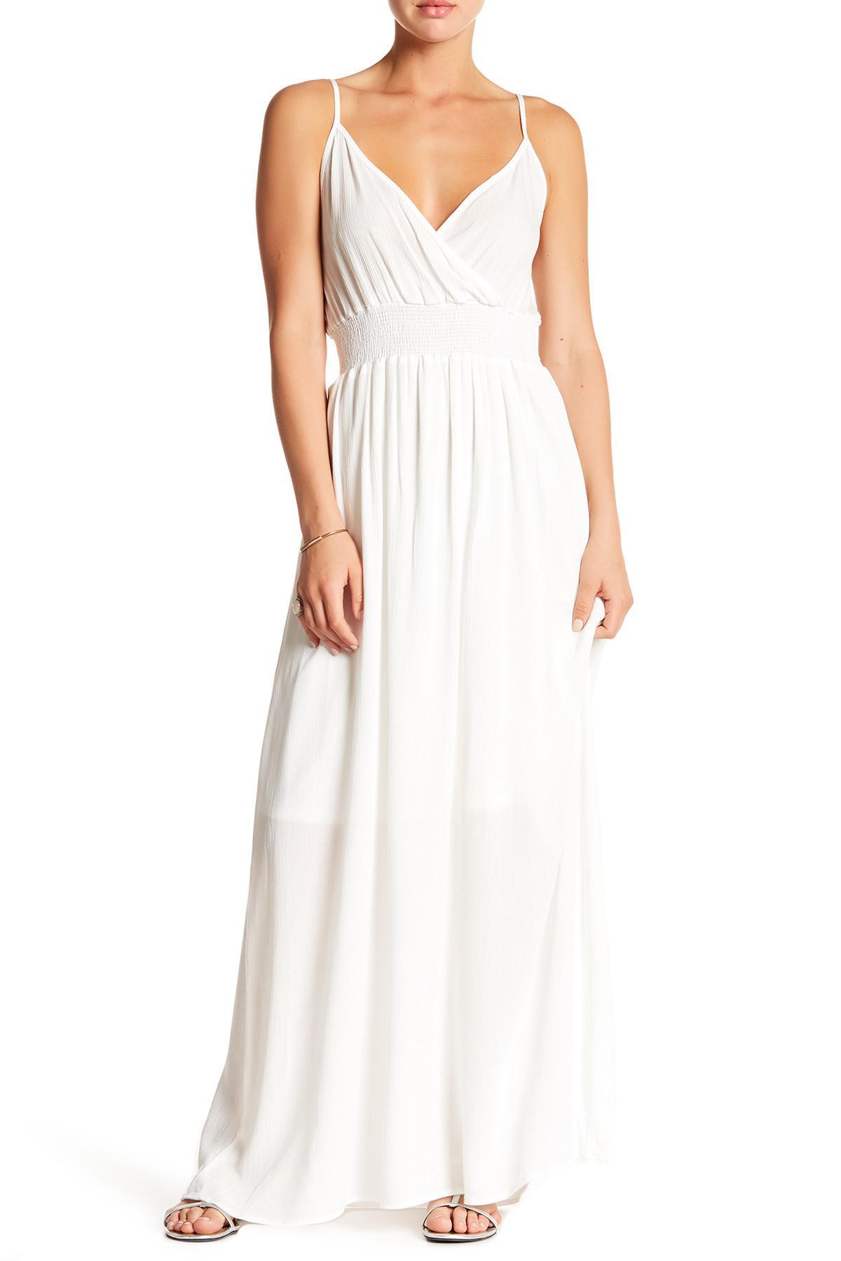 Lyst - West Kei Gauze Maxi Dress in White