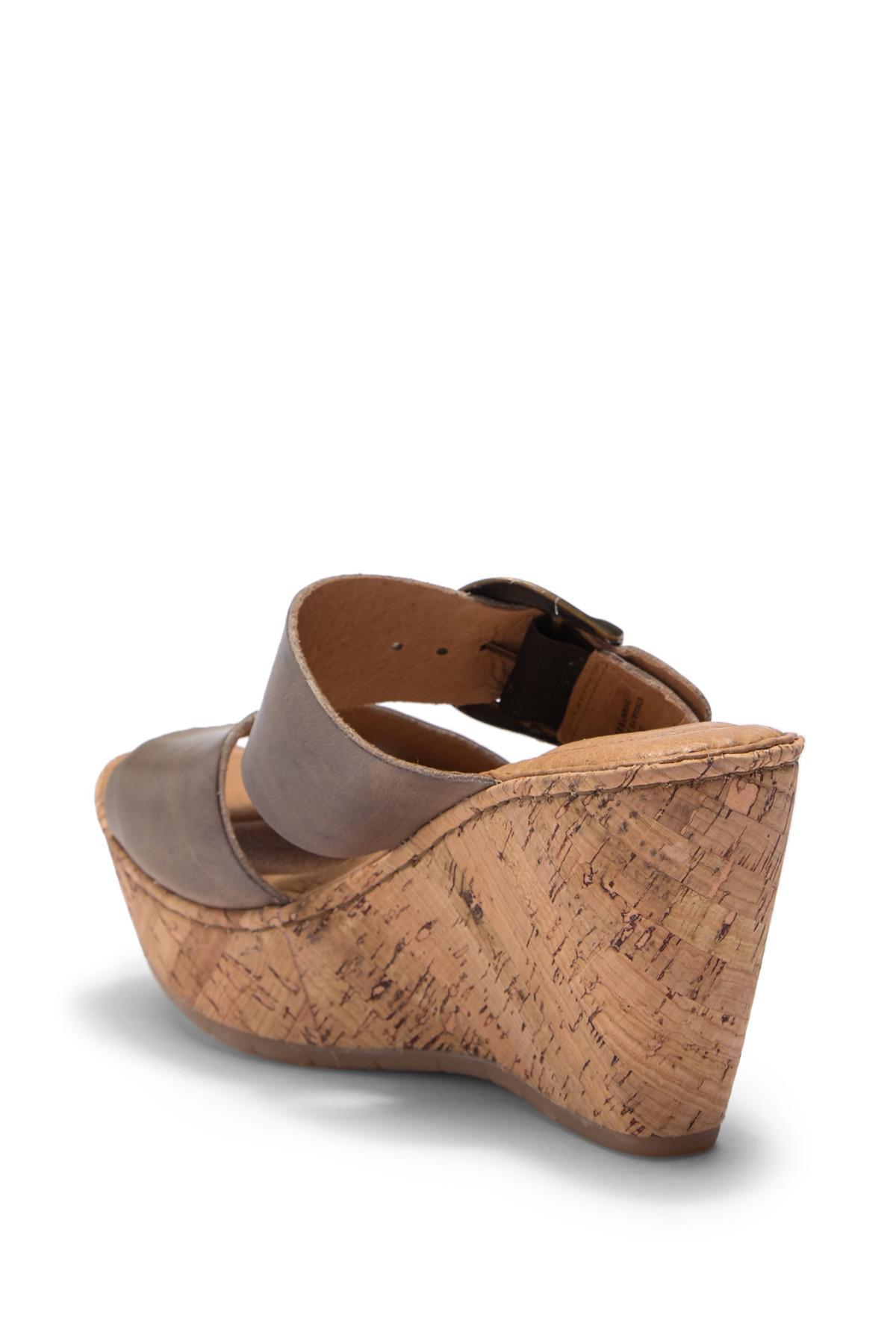 22d5d1fd1e3 Lyst - Born Emmy Band Platform Wedge Sandal in Brown