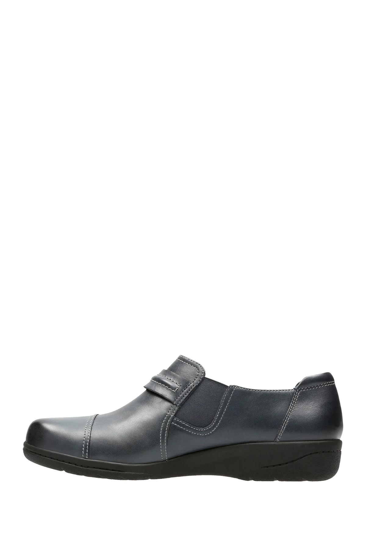 264591ece04 Clarks - Blue Cheyn Madi Leather Slip-on Loafer - Wide Width Available -  Lyst. View fullscreen