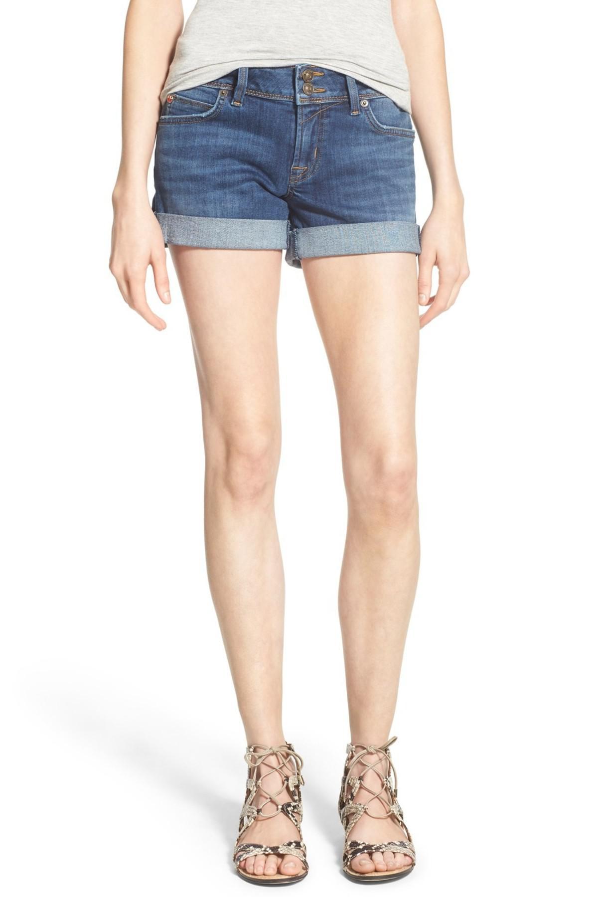 1d403f22e9 Lyst - Hudson Jeans 'croxley' Cuffed Denim Shorts (advantageous) in Blue