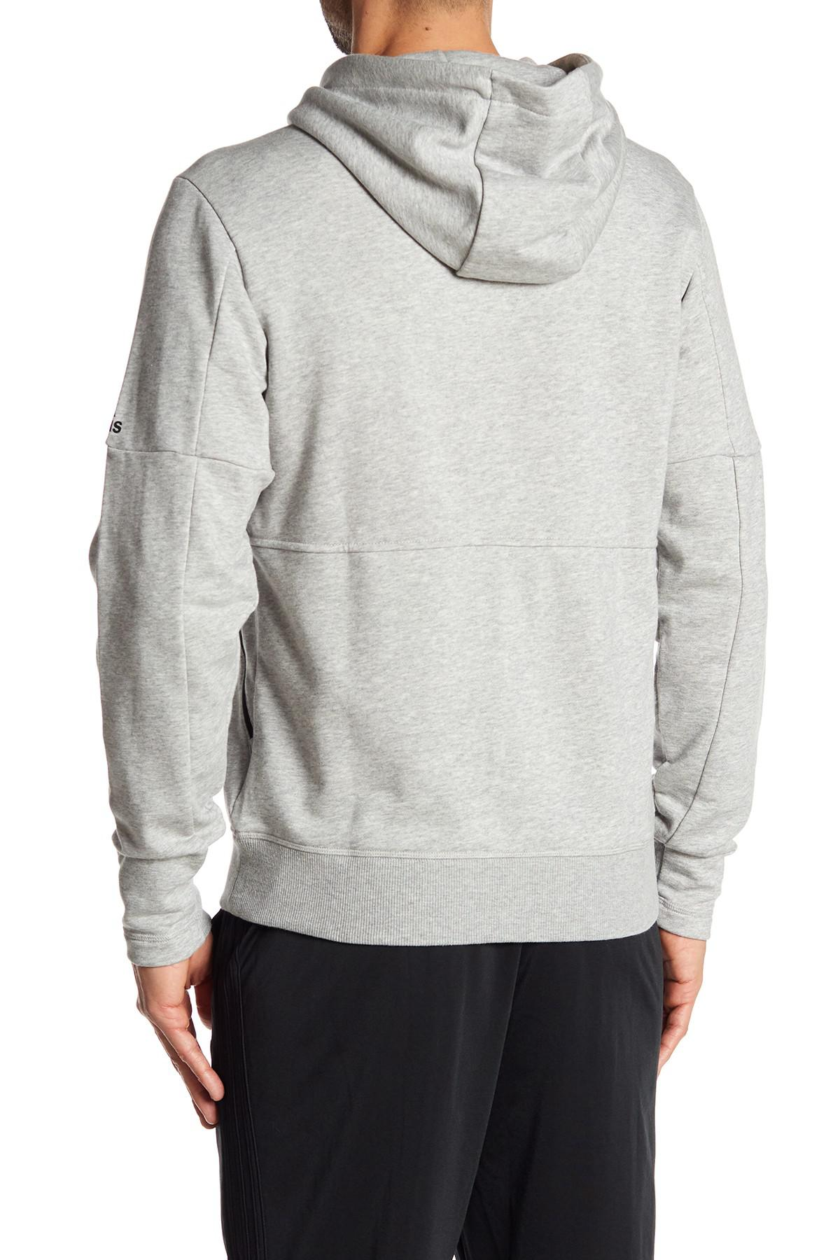 6e181eab306cf7 Lyst - adidas Knit Pullover Hoodie in Gray for Men
