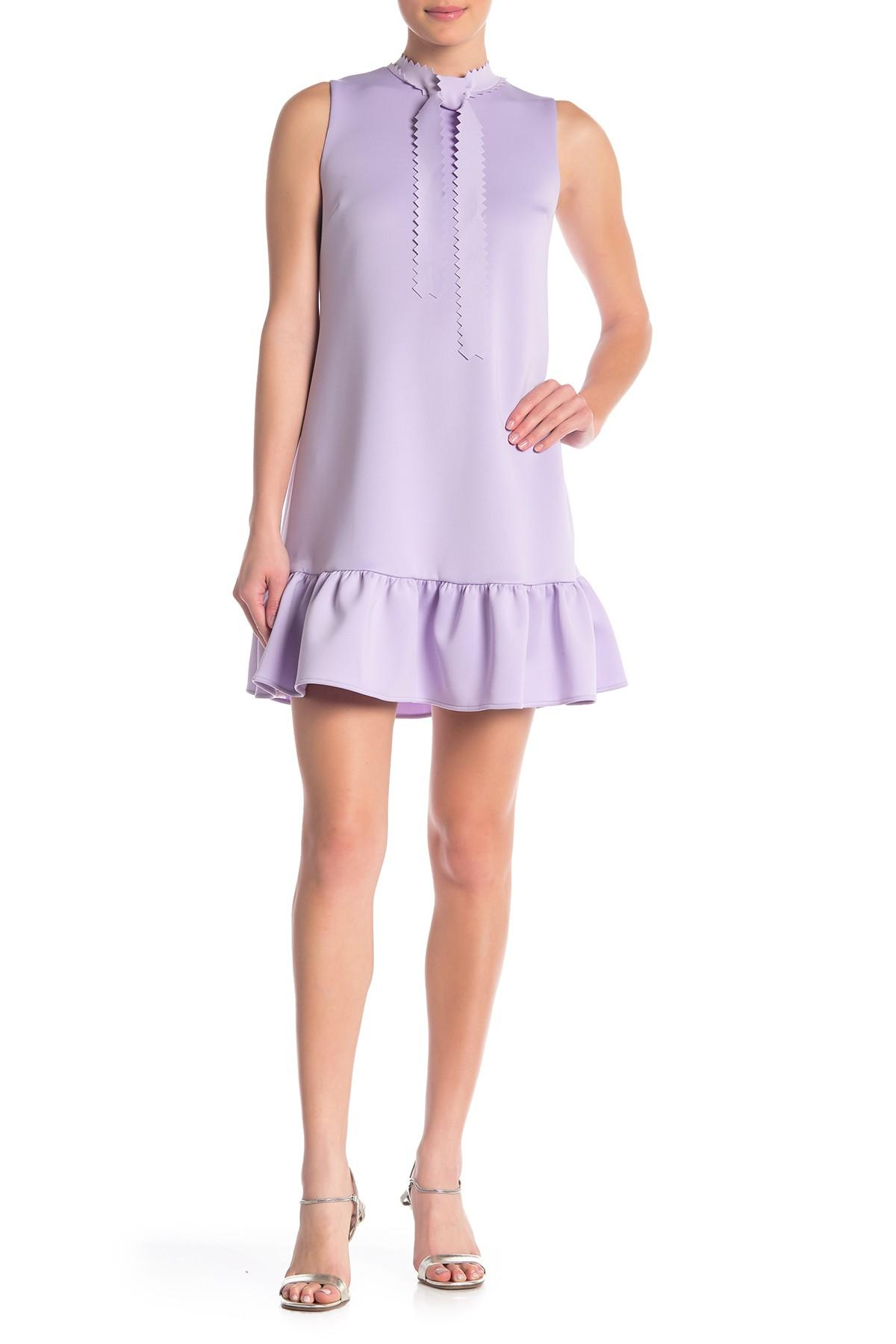 78eaa911988 Betsey Johnson Laser-cut Techno Knit Shift Dress in Purple - Save 3 ...