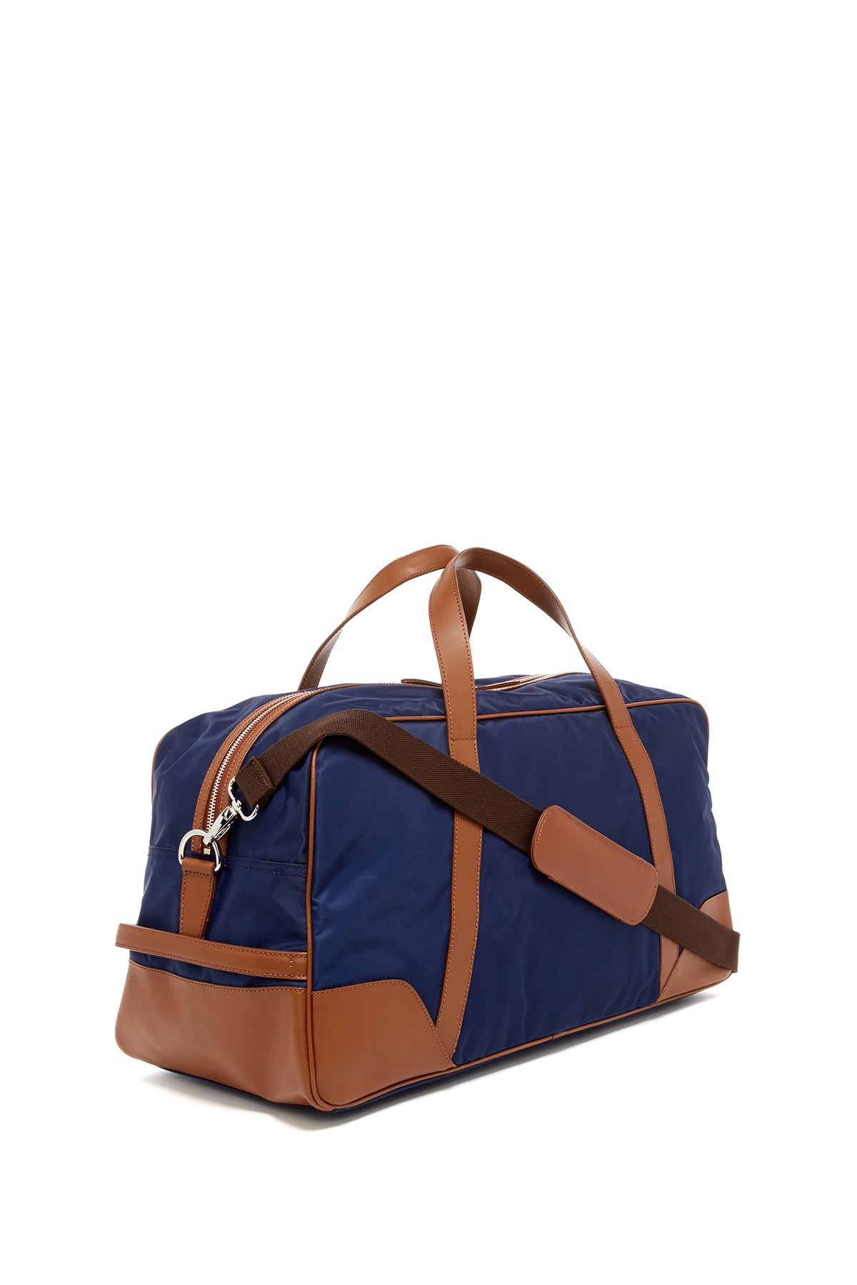 Cole Haan Nylon Duffle Bag In Blue For Men Lyst