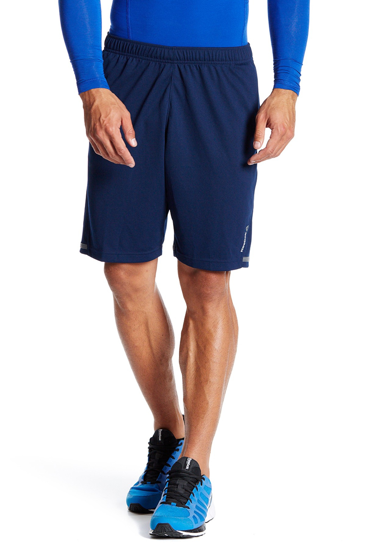 Lyst - Reebok Workout Textured Short in Blue for Men 2621ae82bf25c